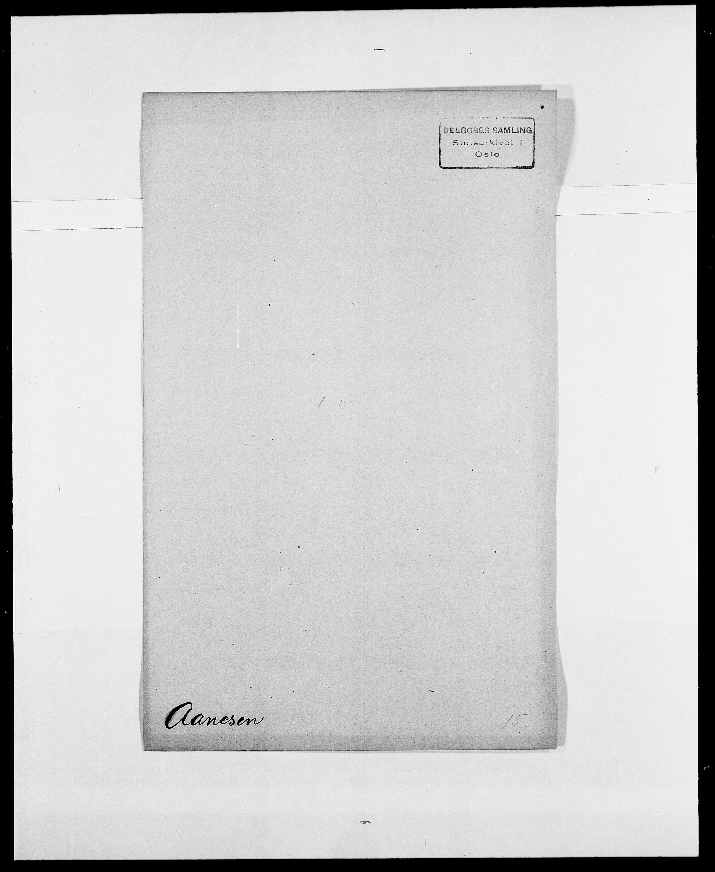 SAO, Delgobe, Charles Antoine - samling, D/Da/L0001: Aabye - Angerman, s. 81