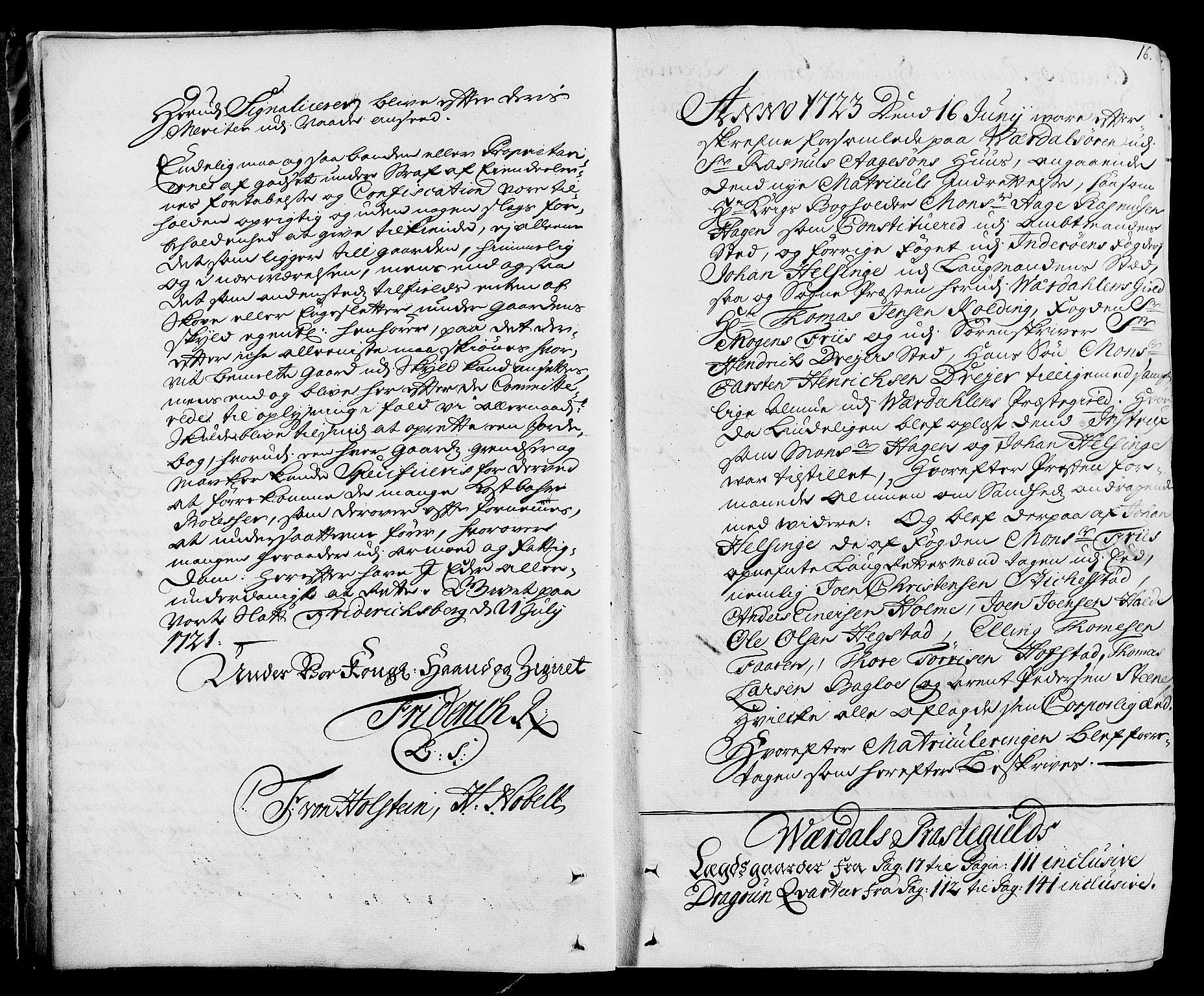 RA, Rentekammeret inntil 1814, Realistisk ordnet avdeling, N/Nb/Nbf/L0164: Stjørdal og Verdal eksaminasjonsprotokoll, 1723, s. 15b-16a