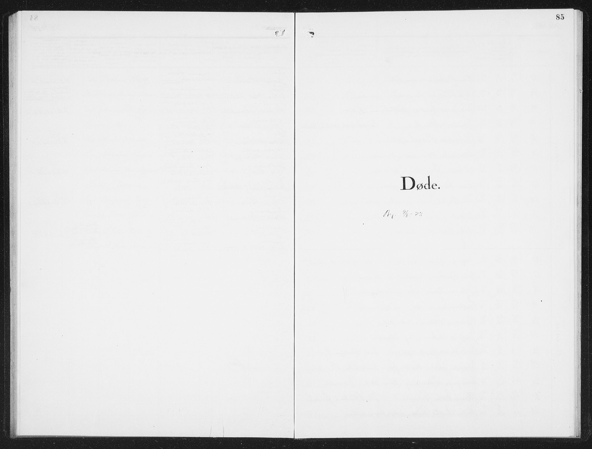 SAT, Ministerialprotokoller, klokkerbøker og fødselsregistre - Nordland, 801/L0036: Klokkerbok nr. 801C11, 1920-1934, s. 85