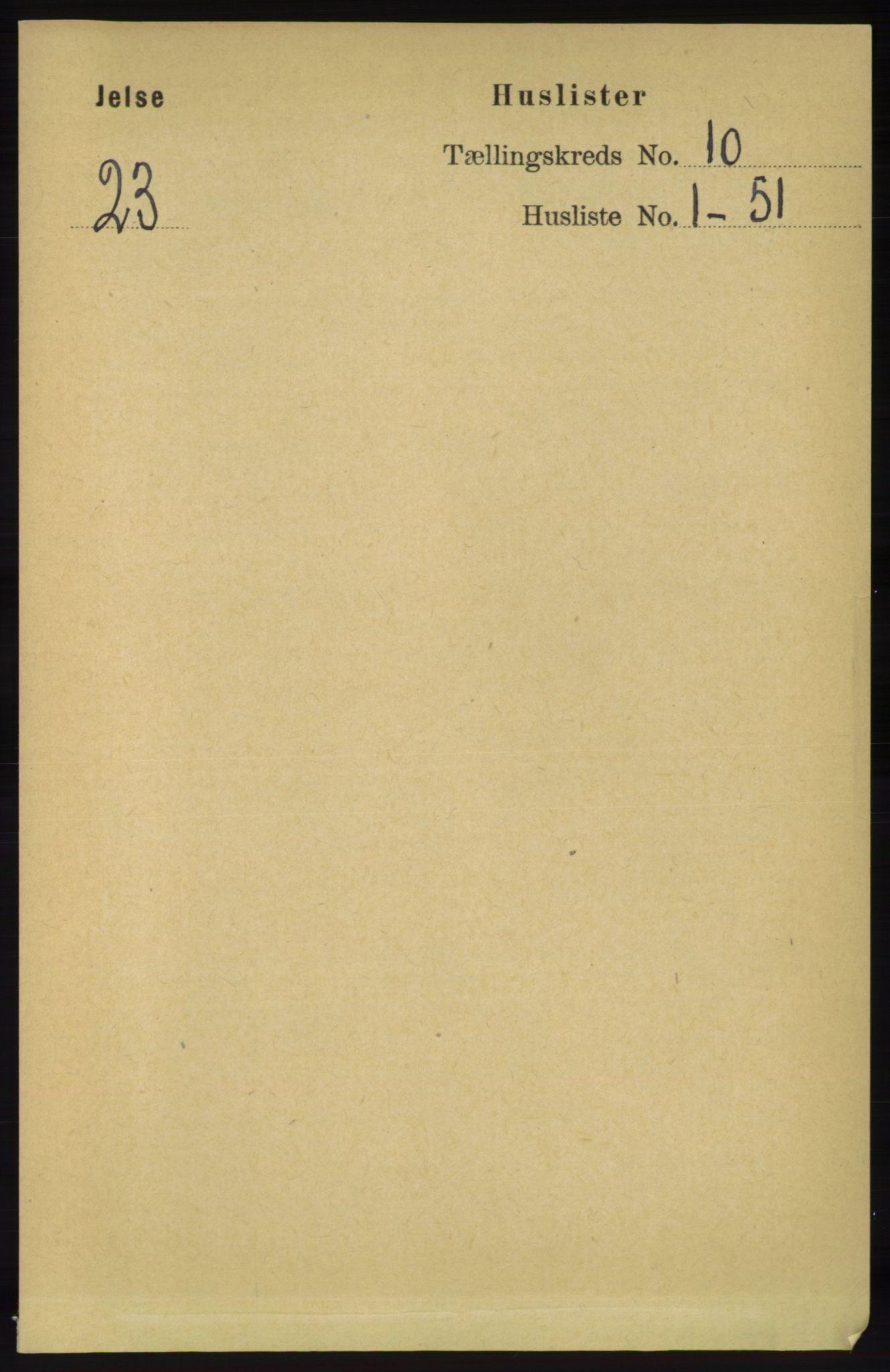 RA, Folketelling 1891 for 1138 Jelsa herred, 1891, s. 2373