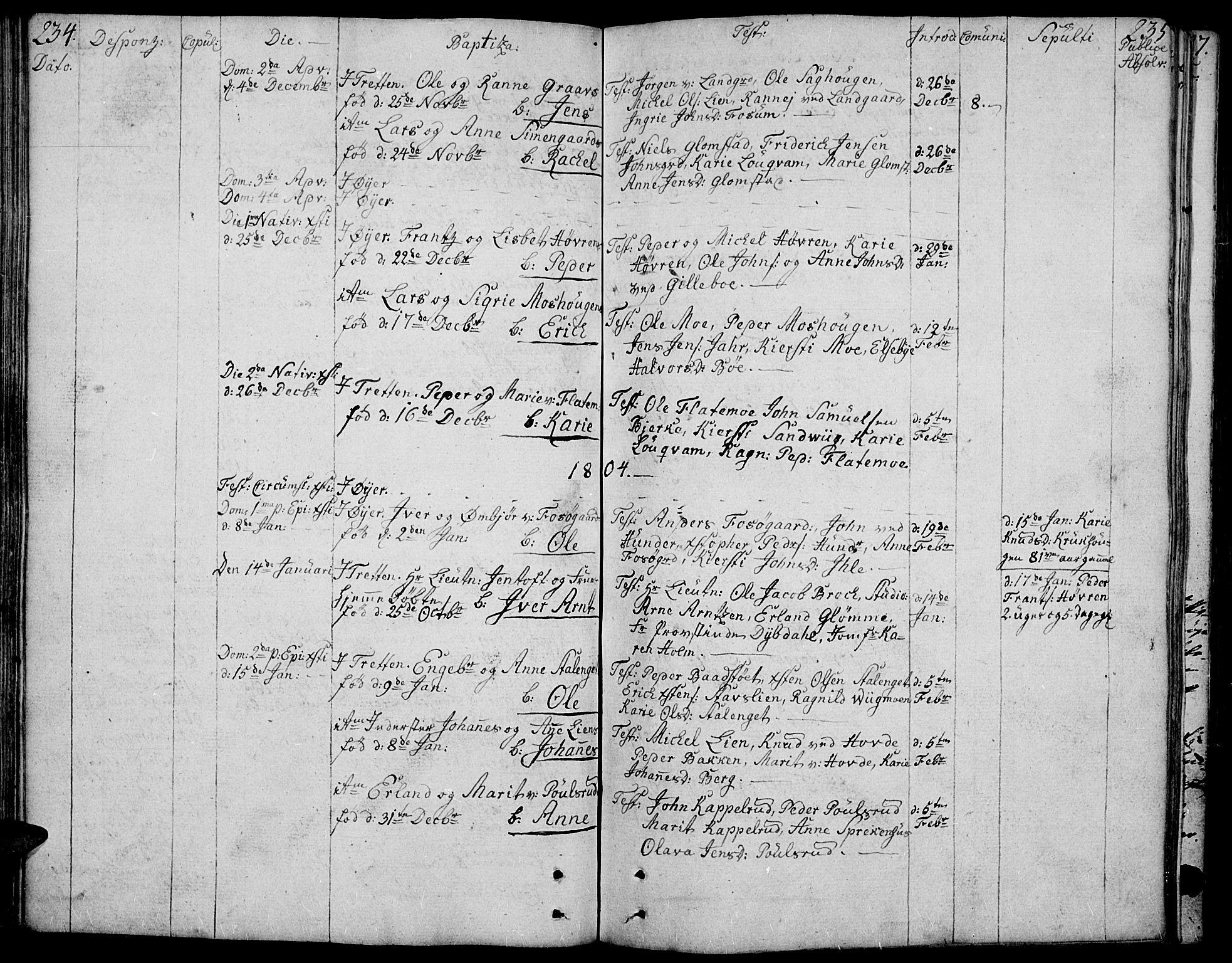 SAH, Øyer prestekontor, Ministerialbok nr. 3, 1784-1824, s. 234-235