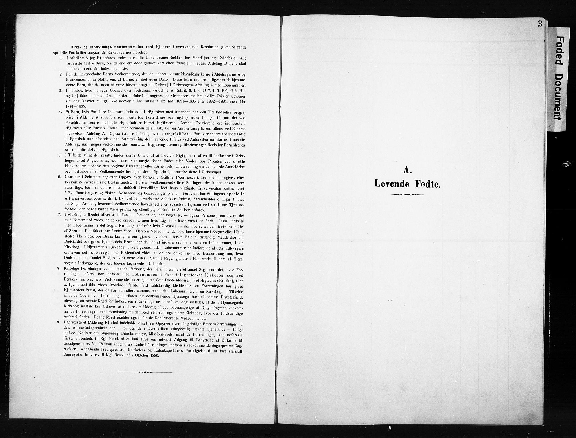 SAH, Nordre Land prestekontor, Klokkerbok nr. 6, 1905-1929, s. 3