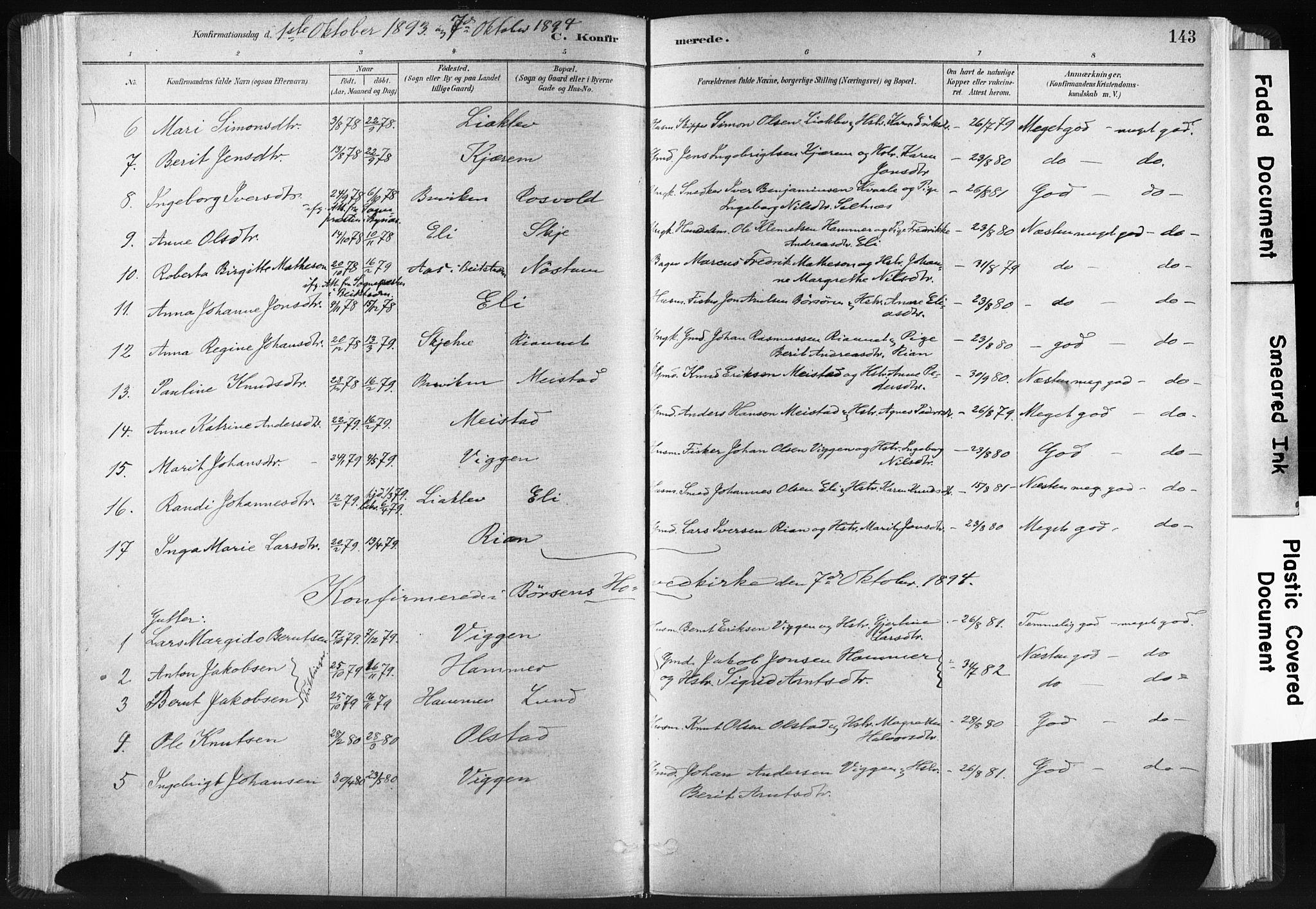 SAT, Ministerialprotokoller, klokkerbøker og fødselsregistre - Sør-Trøndelag, 665/L0773: Ministerialbok nr. 665A08, 1879-1905, s. 143