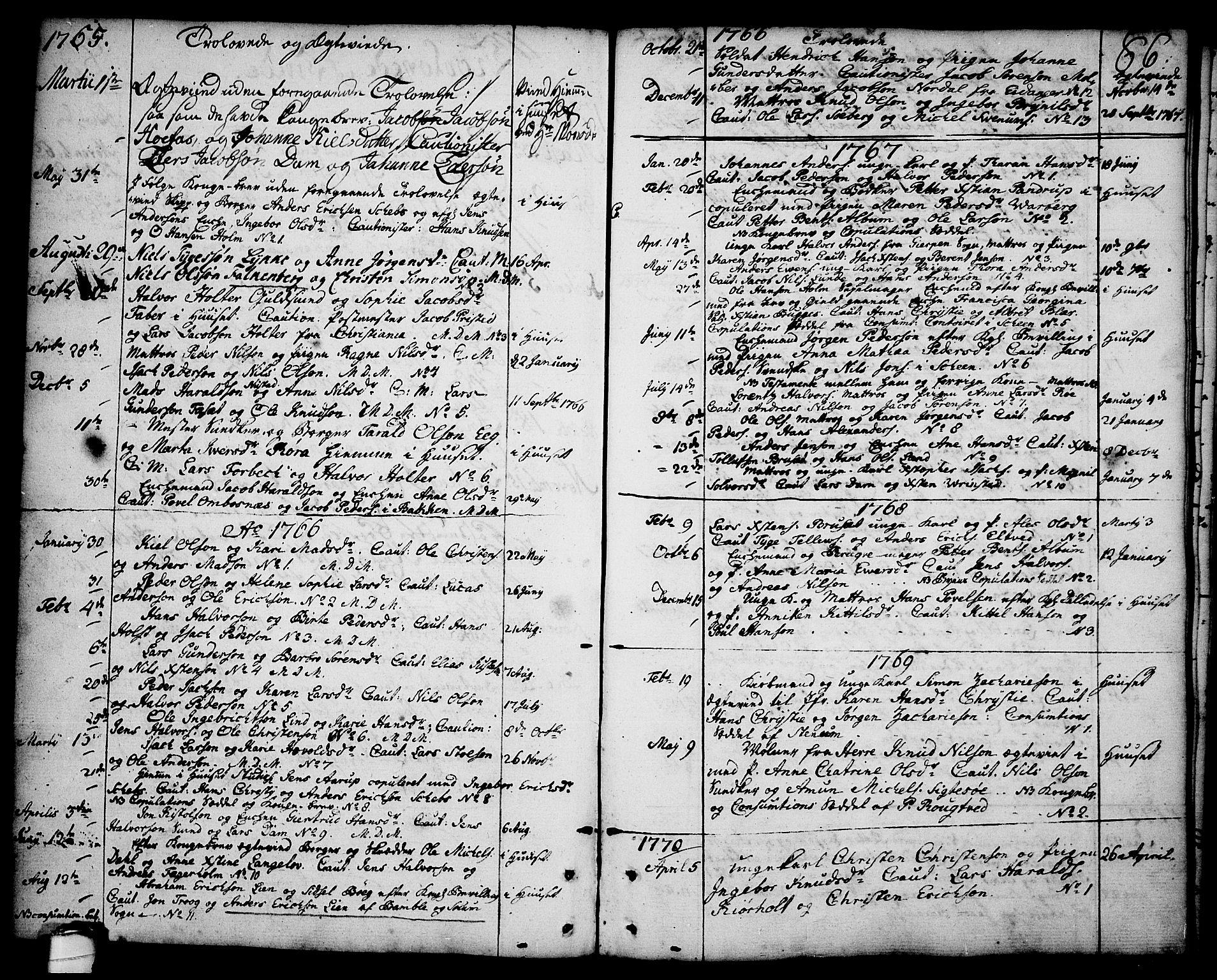 SAKO, Brevik kirkebøker, F/Fa/L0003: Ministerialbok nr. 3, 1764-1814, s. 86