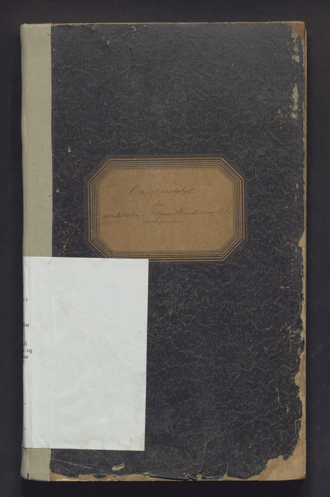 IKAH, Sund kommune. Barneskulane, F/Fa/L0002: Skuleprotokoll for Kleppe, Stranda og Pollen krinsar, 1894-1907