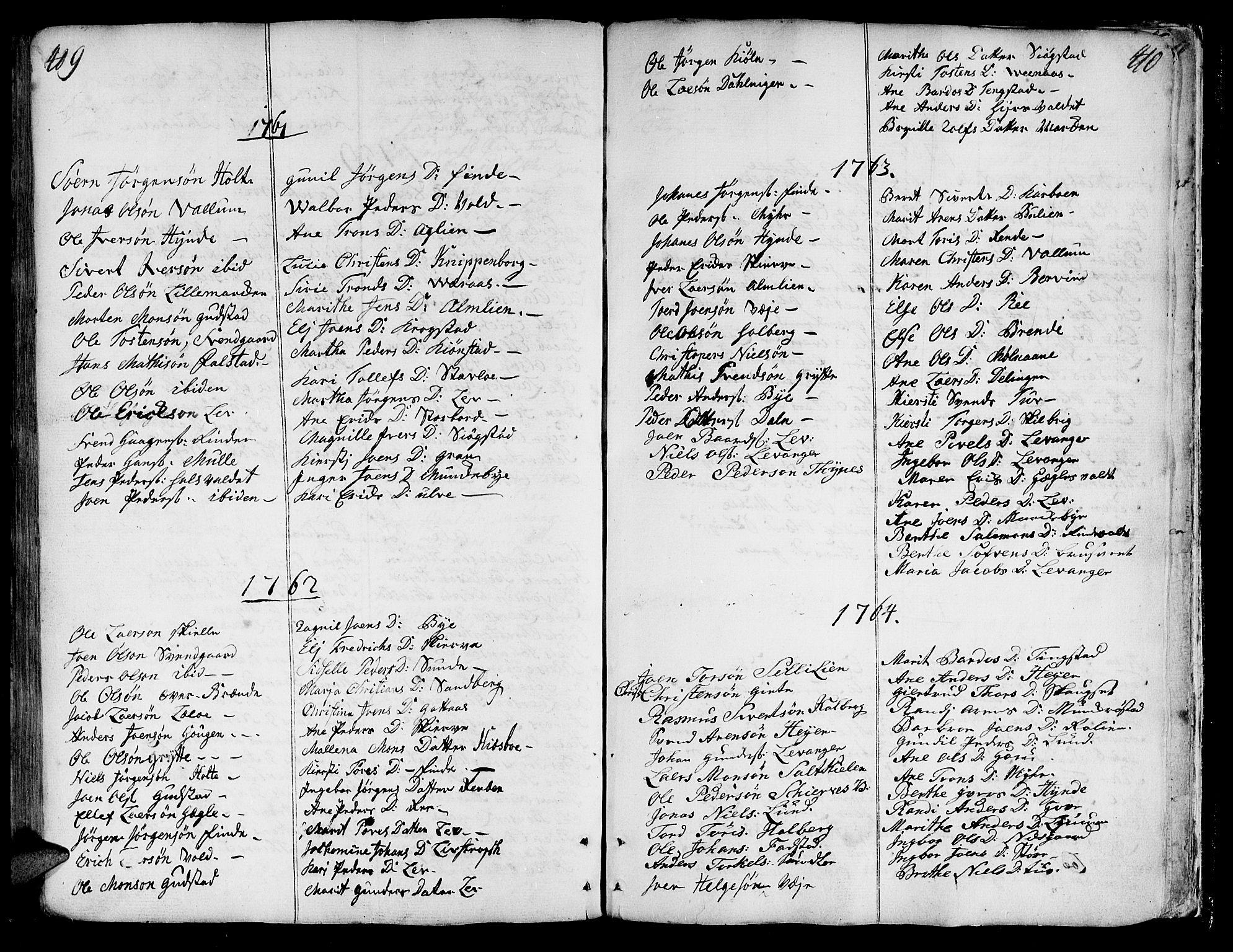SAT, Ministerialprotokoller, klokkerbøker og fødselsregistre - Nord-Trøndelag, 717/L0141: Ministerialbok nr. 717A01, 1747-1803, s. 409-410