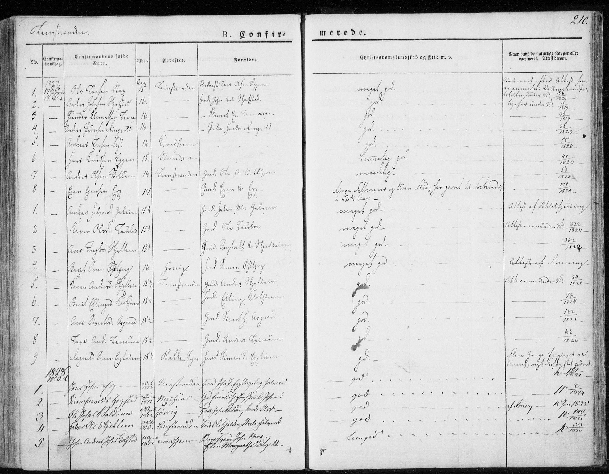 SAT, Ministerialprotokoller, klokkerbøker og fødselsregistre - Sør-Trøndelag, 691/L1069: Ministerialbok nr. 691A04, 1826-1841, s. 210