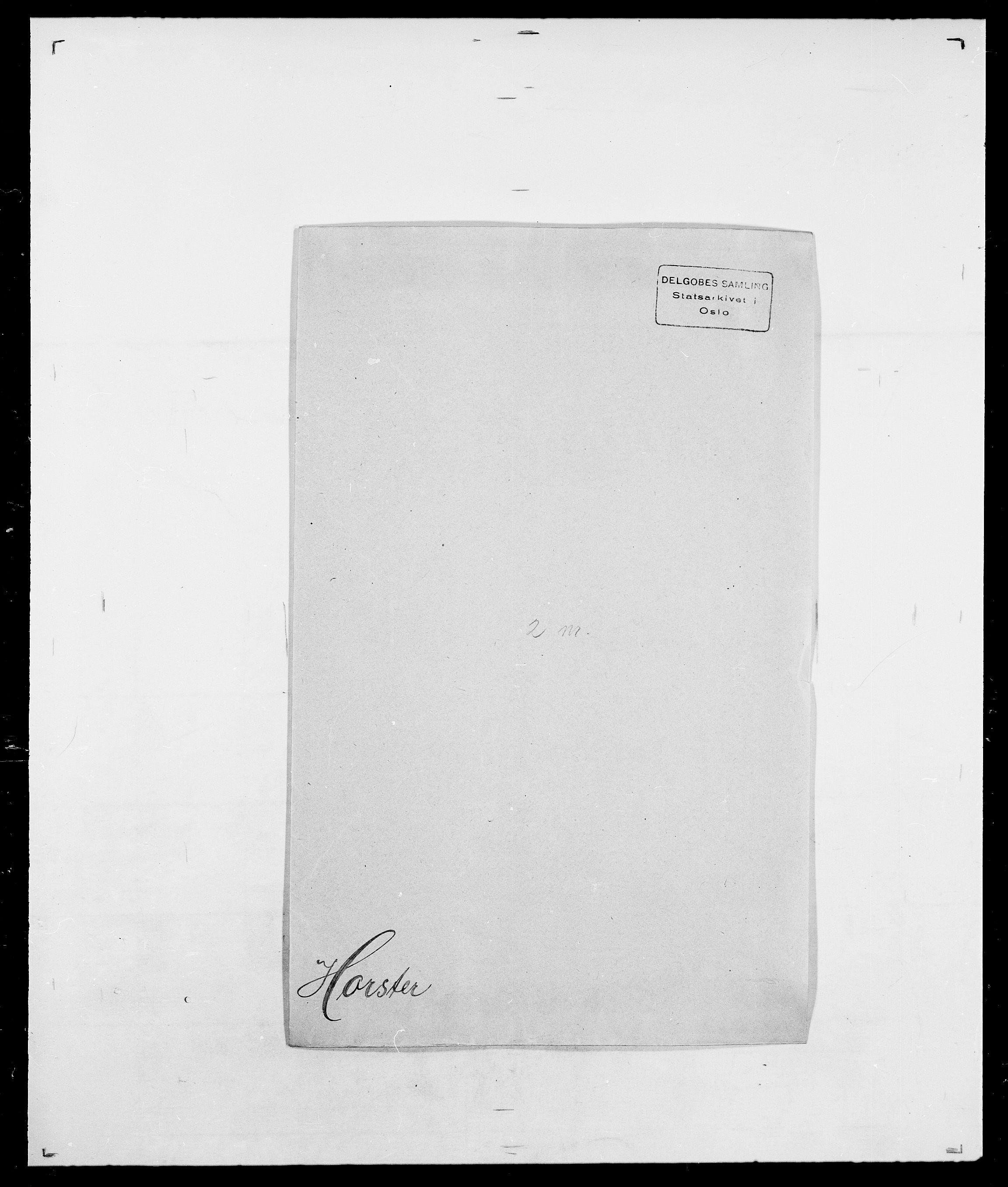SAO, Delgobe, Charles Antoine - samling, D/Da/L0018: Hoch - Howert, s. 987