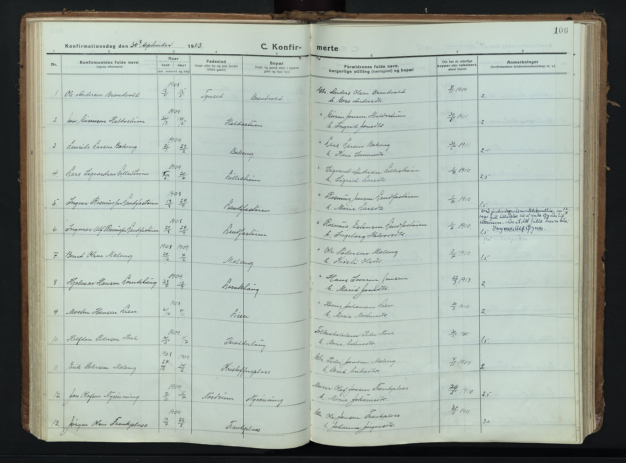 SAH, Alvdal prestekontor, Ministerialbok nr. 6, 1920-1937, s. 106