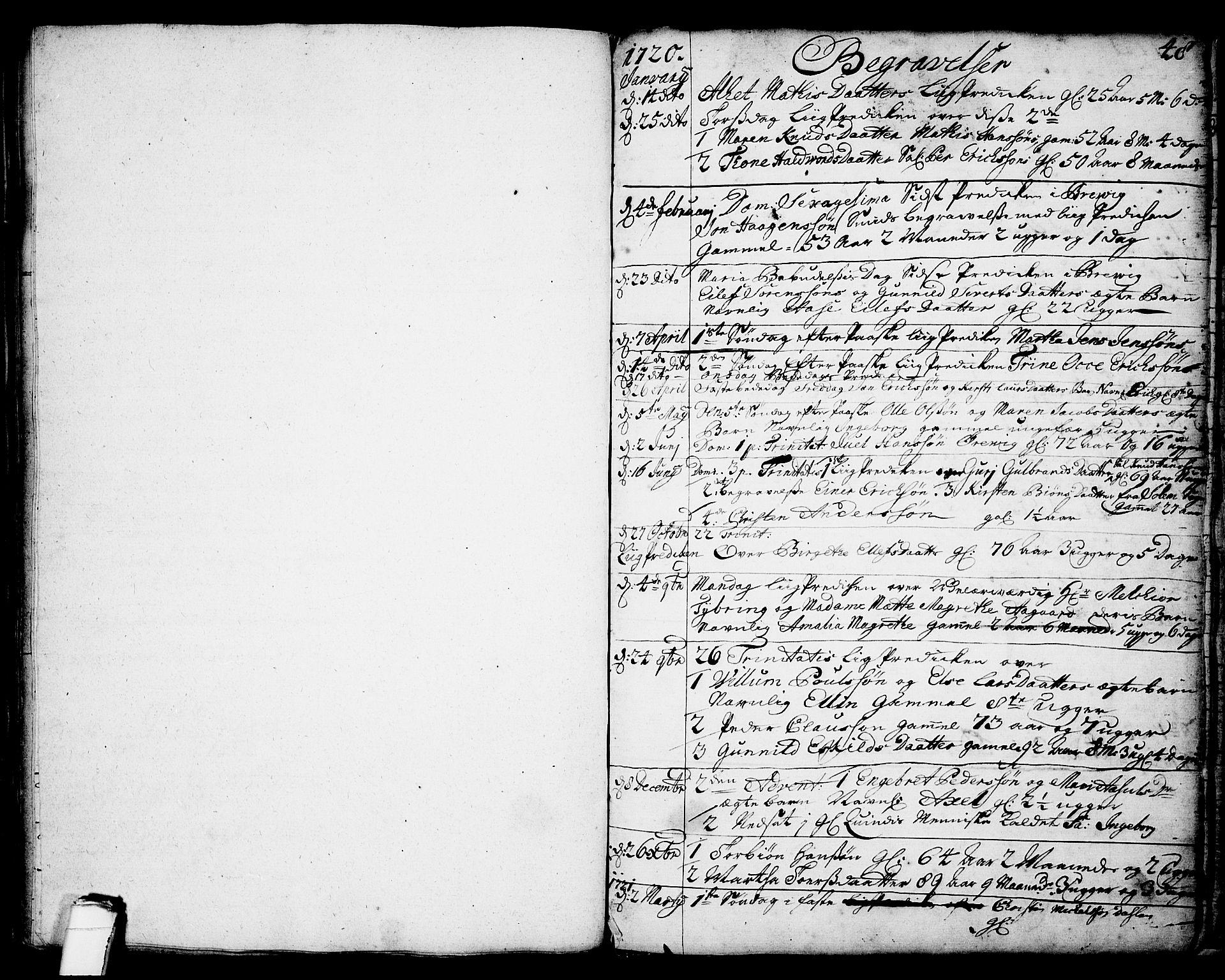 SAKO, Brevik kirkebøker, F/Fa/L0002: Ministerialbok nr. 2, 1720-1764, s. 48