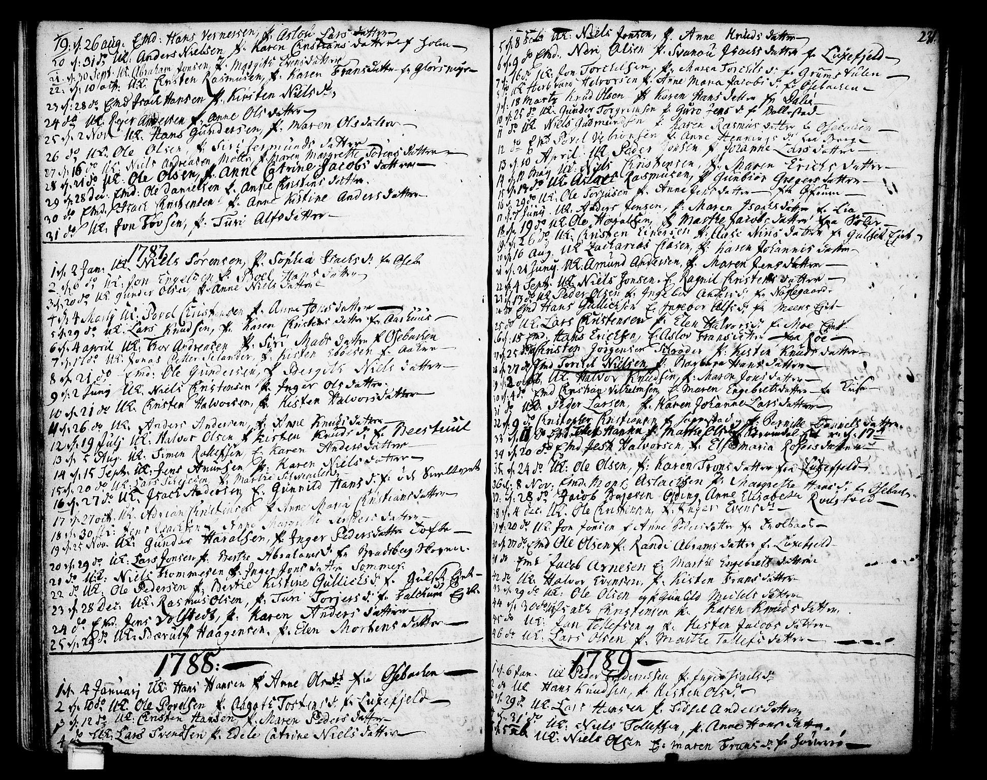 SAKO, Gjerpen kirkebøker, F/Fa/L0002: Ministerialbok nr. 2, 1747-1795, s. 231