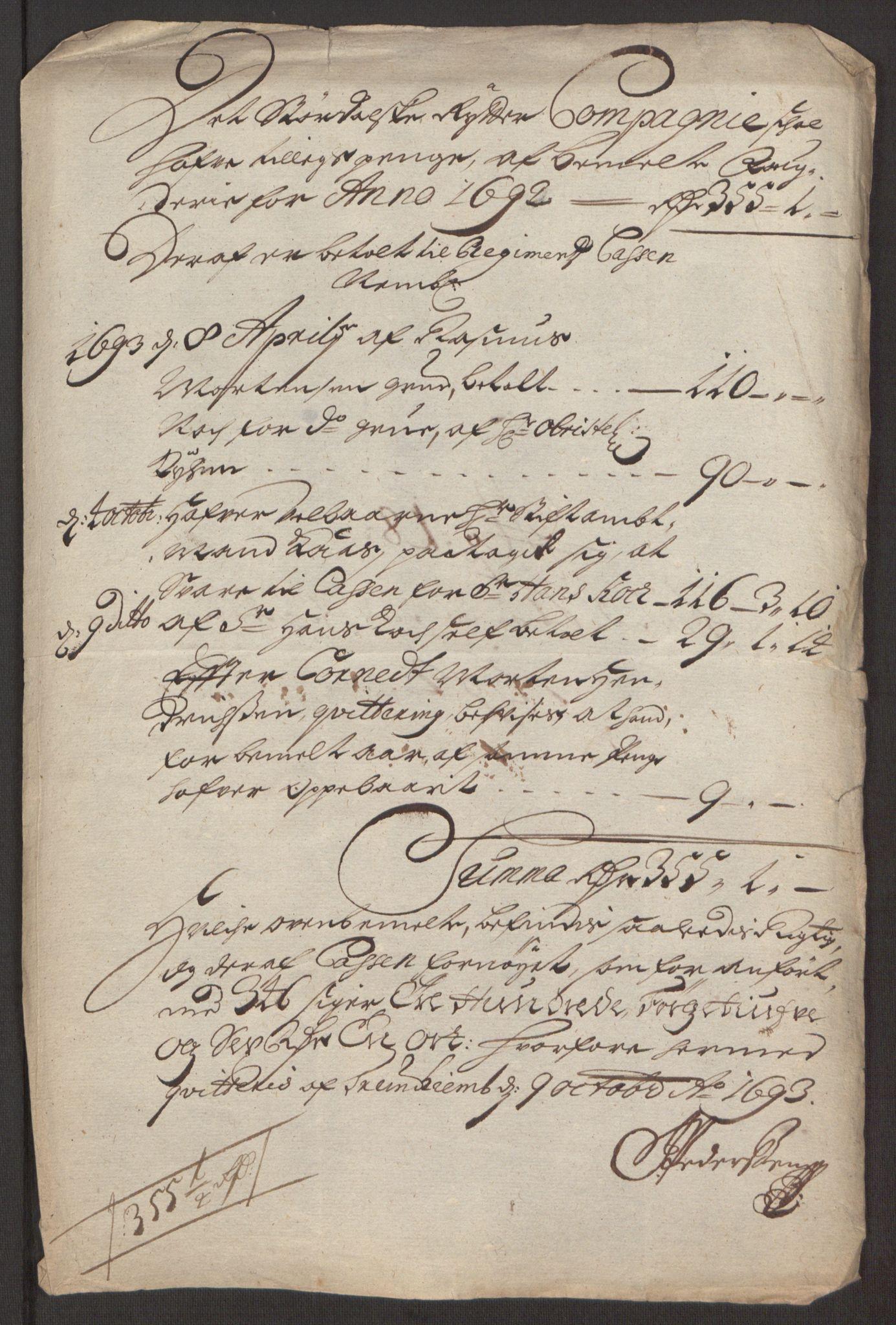 RA, Rentekammeret inntil 1814, Reviderte regnskaper, Fogderegnskap, R62/L4185: Fogderegnskap Stjørdal og Verdal, 1692, s. 331