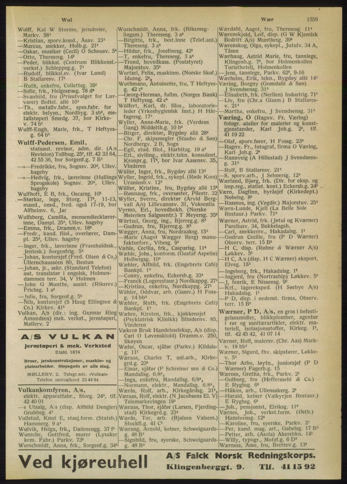 PUBL, Kristiania/Oslo adressebok, 1950, s. 1559