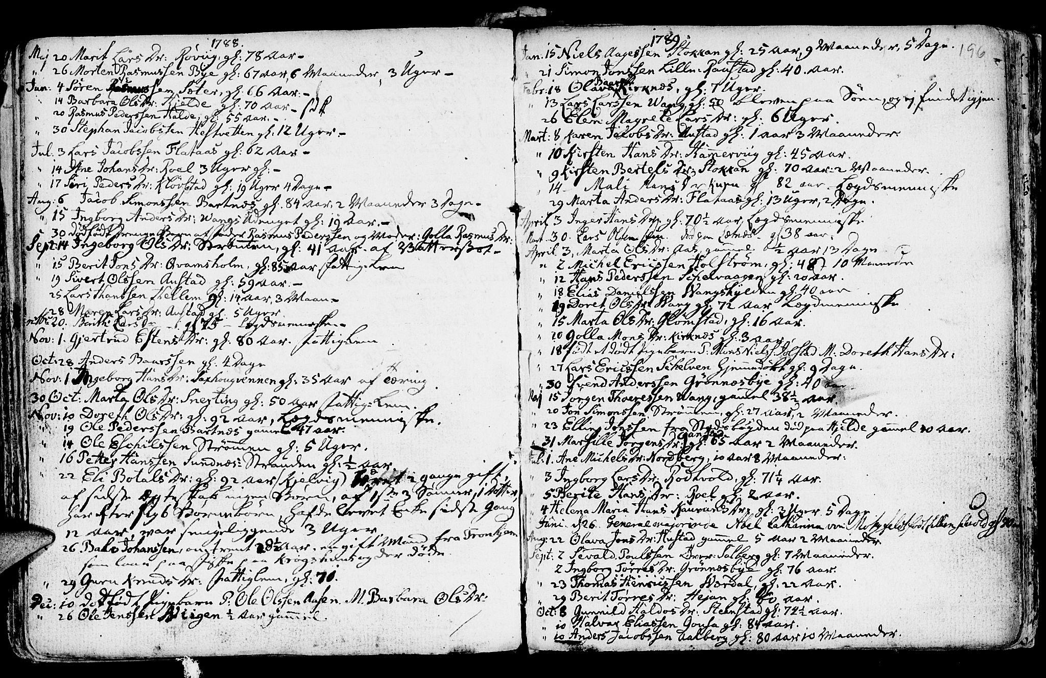 SAT, Ministerialprotokoller, klokkerbøker og fødselsregistre - Nord-Trøndelag, 730/L0273: Ministerialbok nr. 730A02, 1762-1802, s. 196