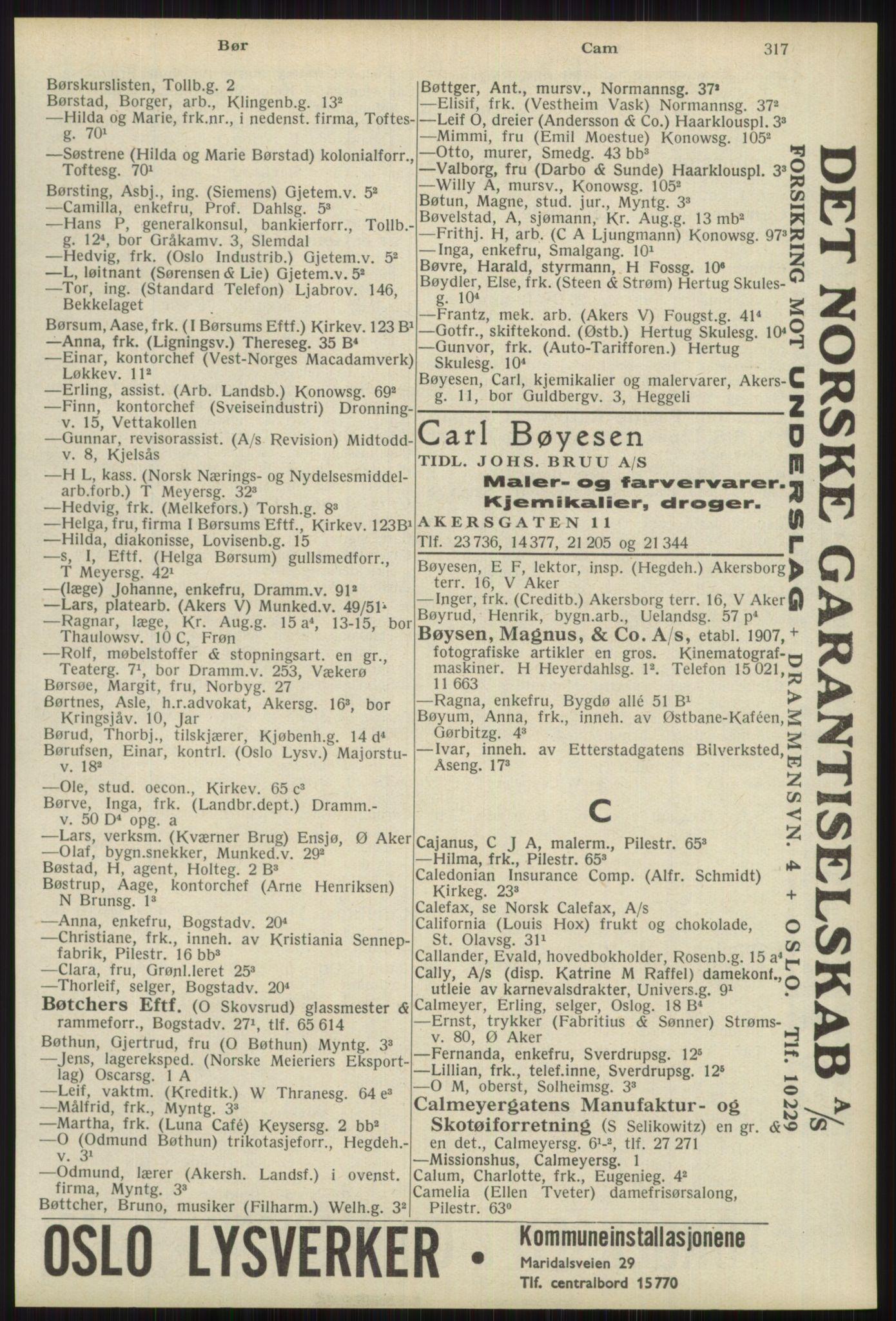 RA, Oslo adressebok (publikasjon)*, 1939, s. 317