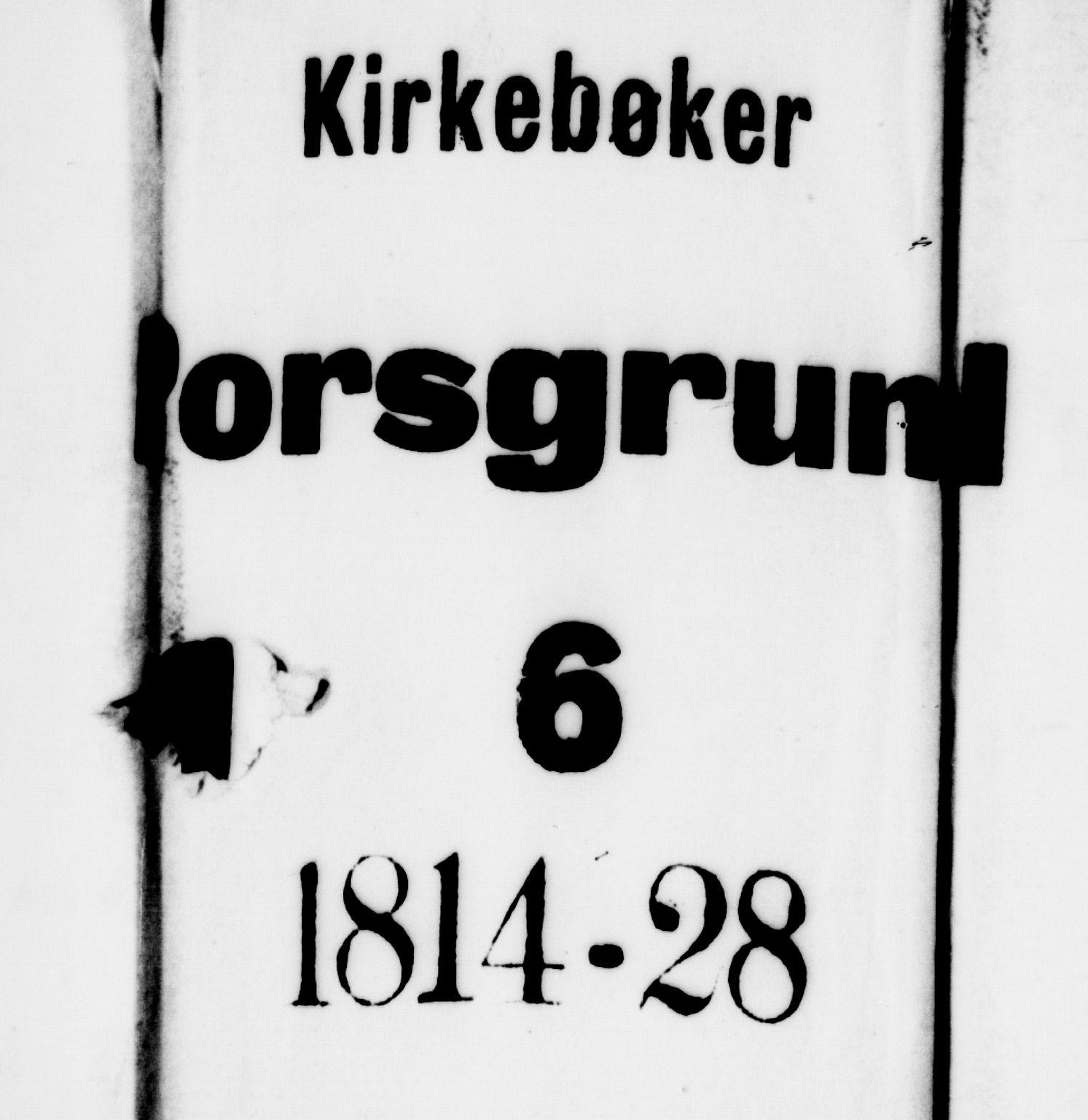SAKO, Porsgrunn kirkebøker , G/Gb/L0001: Klokkerbok nr. II 1, 1817-1828