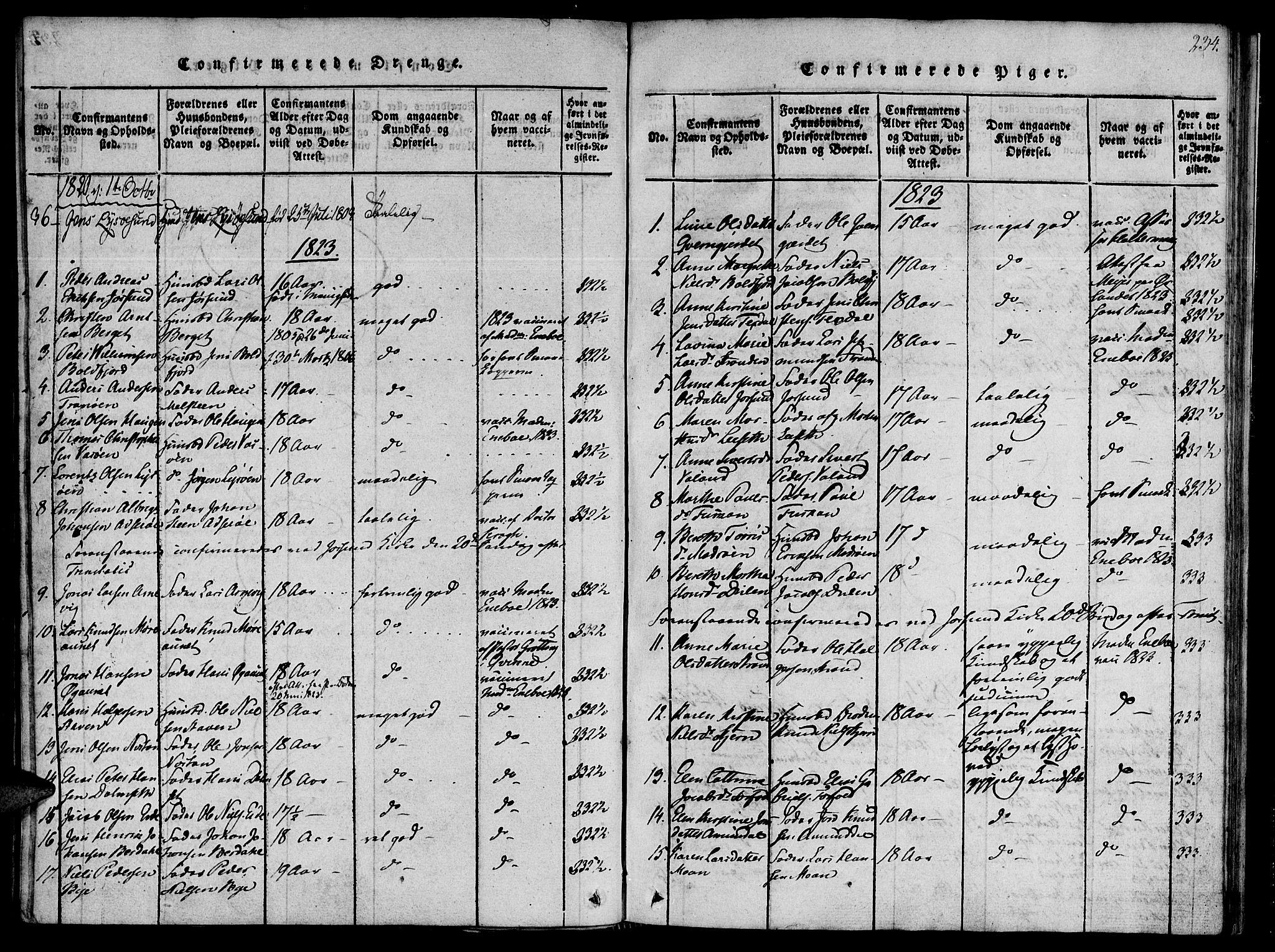 SAT, Ministerialprotokoller, klokkerbøker og fødselsregistre - Sør-Trøndelag, 655/L0675: Ministerialbok nr. 655A04, 1818-1830, s. 234