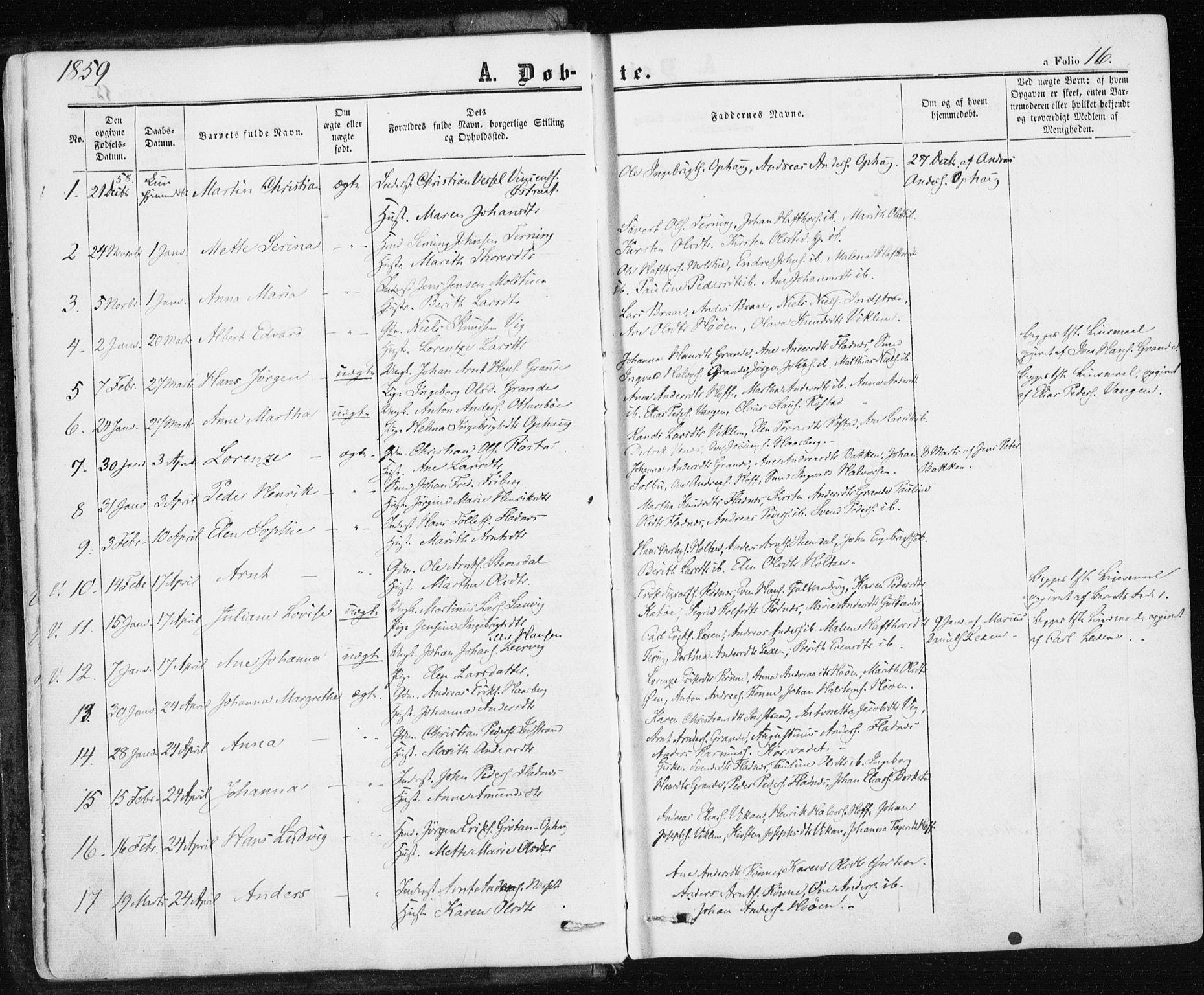 SAT, Ministerialprotokoller, klokkerbøker og fødselsregistre - Sør-Trøndelag, 659/L0737: Ministerialbok nr. 659A07, 1857-1875, s. 16