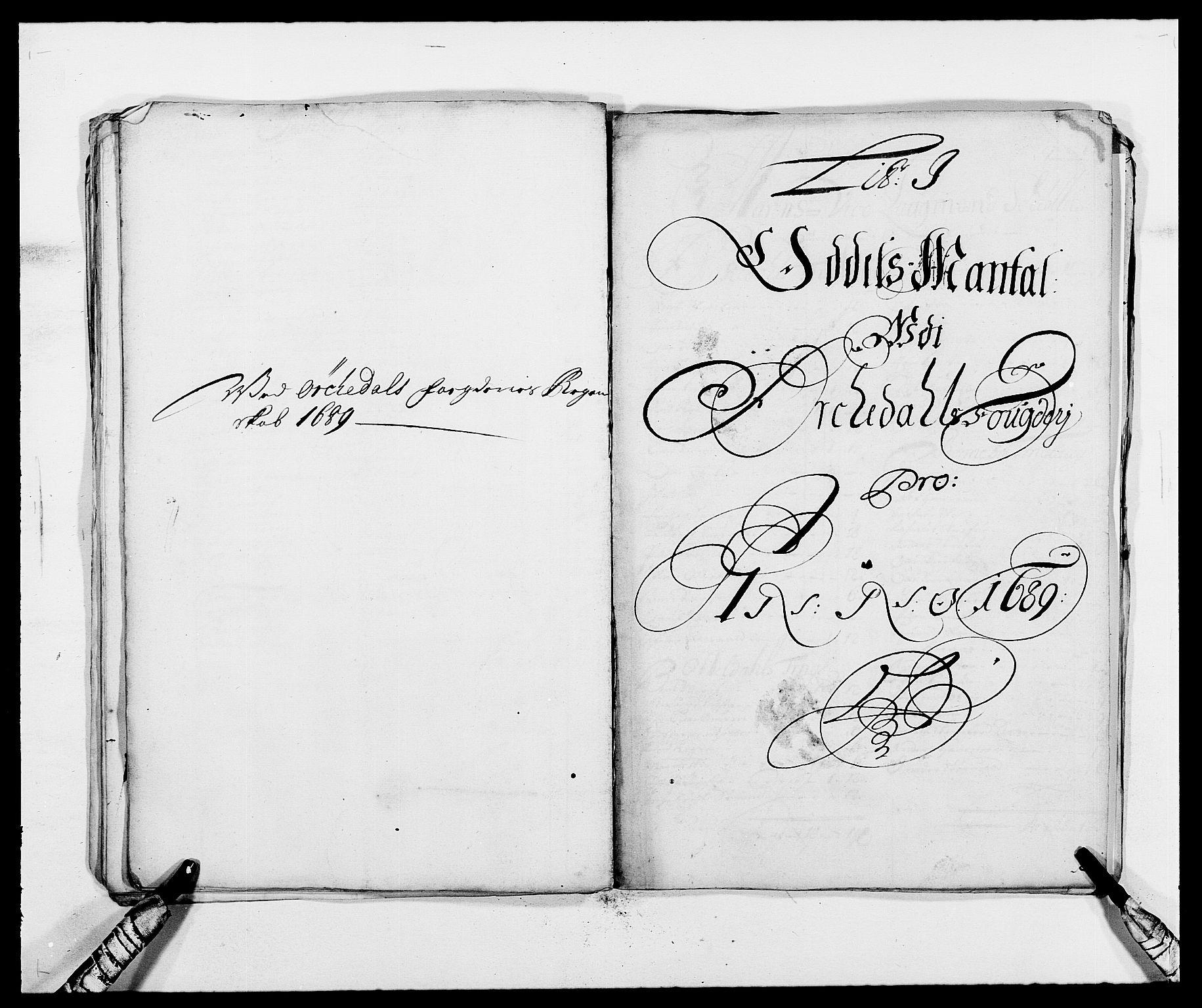 RA, Rentekammeret inntil 1814, Reviderte regnskaper, Fogderegnskap, R58/L3936: Fogderegnskap Orkdal, 1689-1690, s. 89