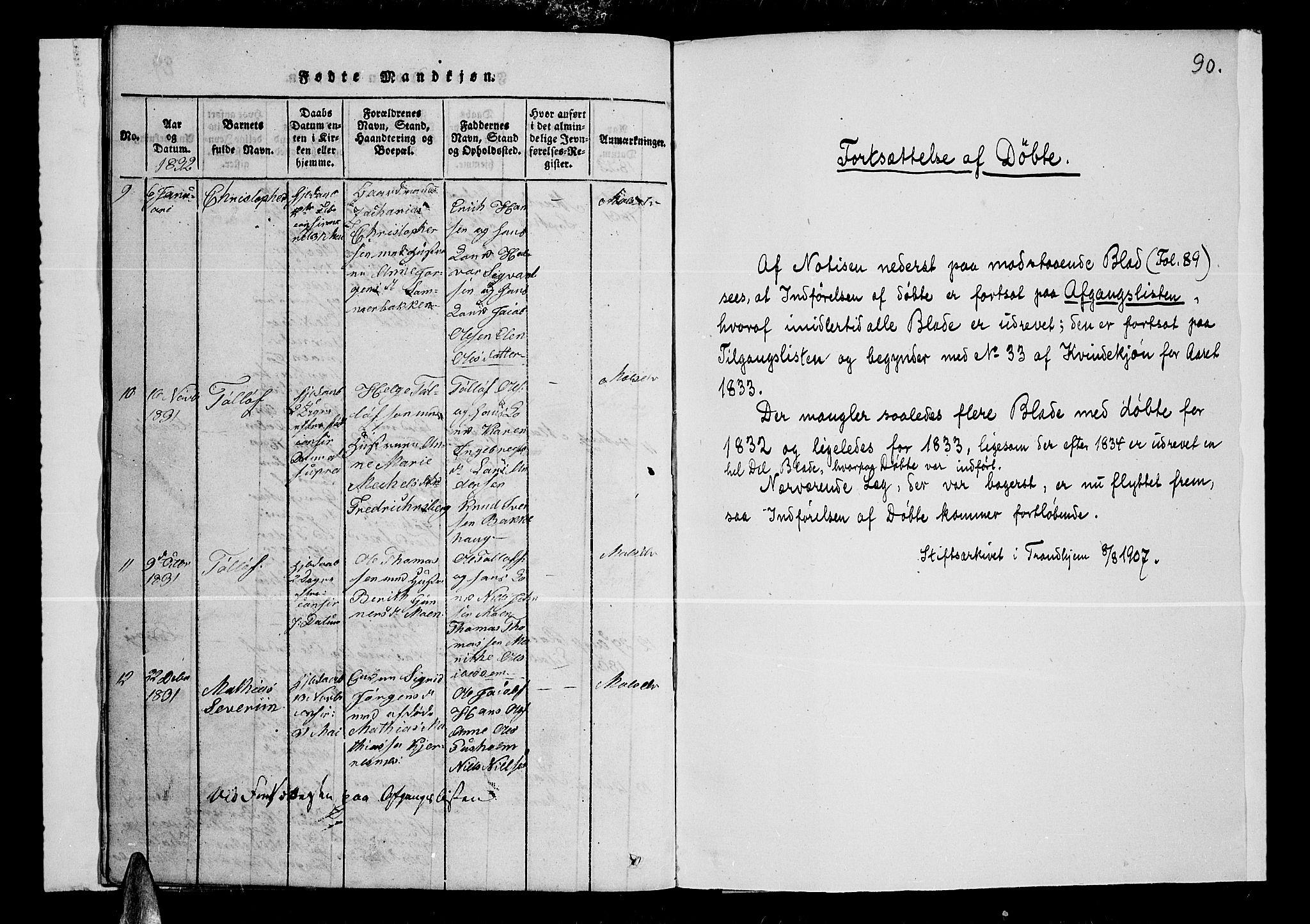 SATØ, Lenvik sokneprestembete, H/Ha: Klokkerbok nr. 1, 1822-1837, s. 90