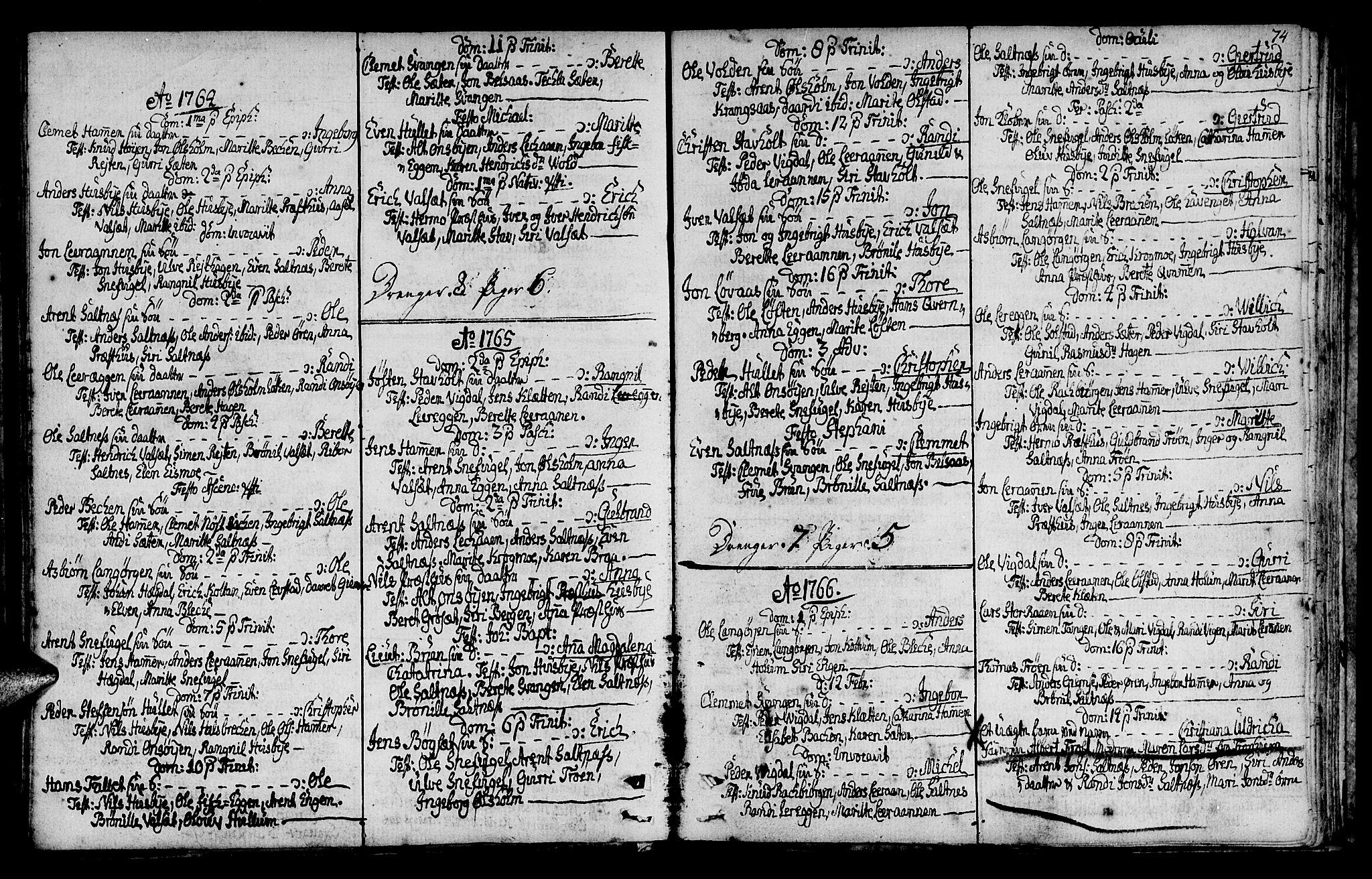 SAT, Ministerialprotokoller, klokkerbøker og fødselsregistre - Sør-Trøndelag, 666/L0784: Ministerialbok nr. 666A02, 1754-1802, s. 74