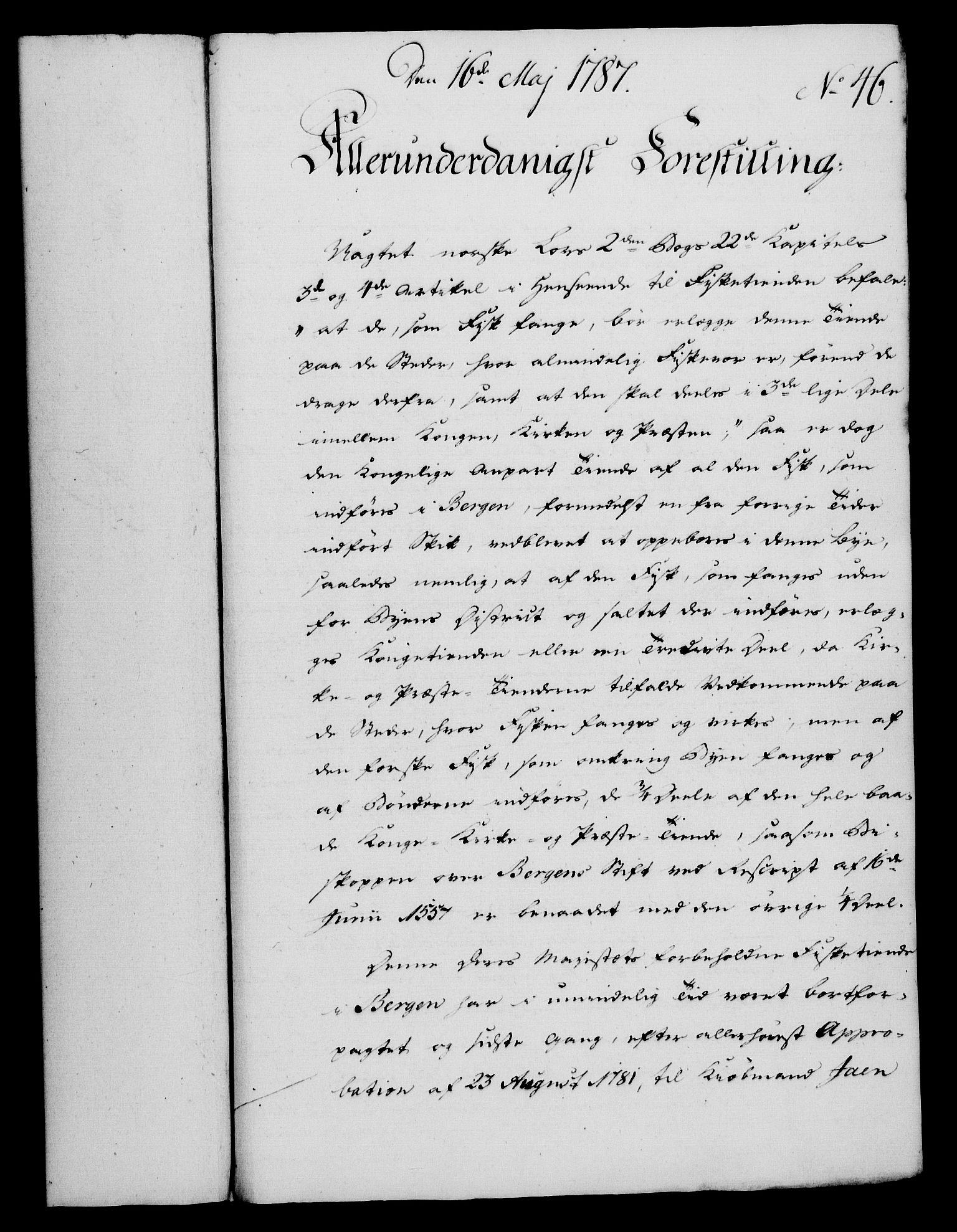 RA, Rentekammeret, Kammerkanselliet, G/Gf/Gfa/L0069: Norsk relasjons- og resolusjonsprotokoll (merket RK 52.69), 1787, s. 350
