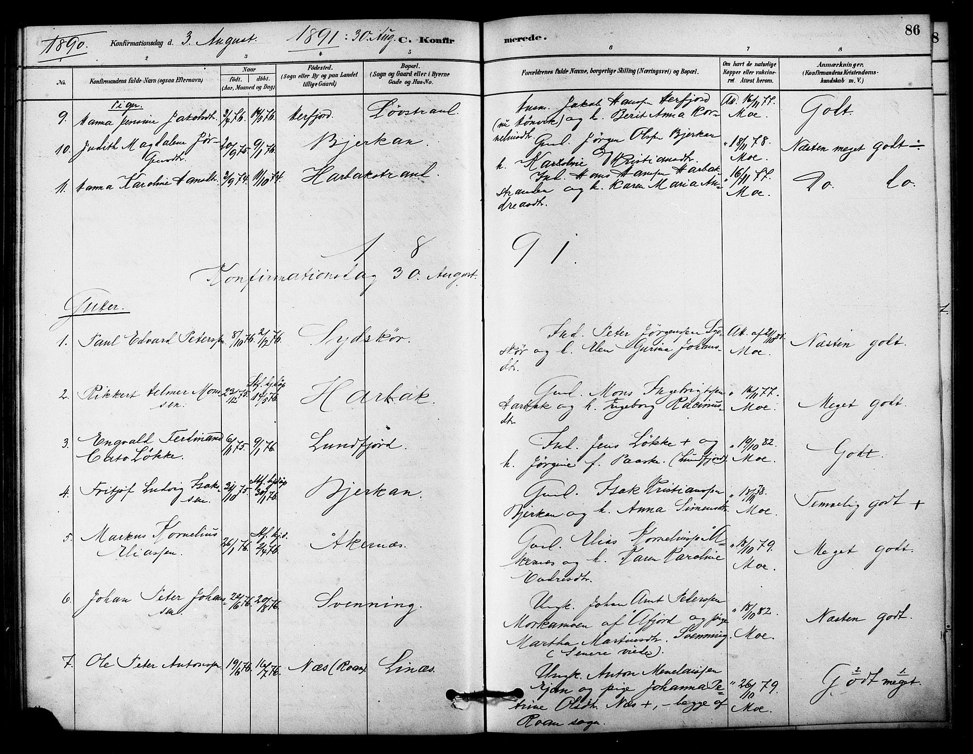 SAT, Ministerialprotokoller, klokkerbøker og fødselsregistre - Sør-Trøndelag, 656/L0692: Ministerialbok nr. 656A01, 1879-1893, s. 86