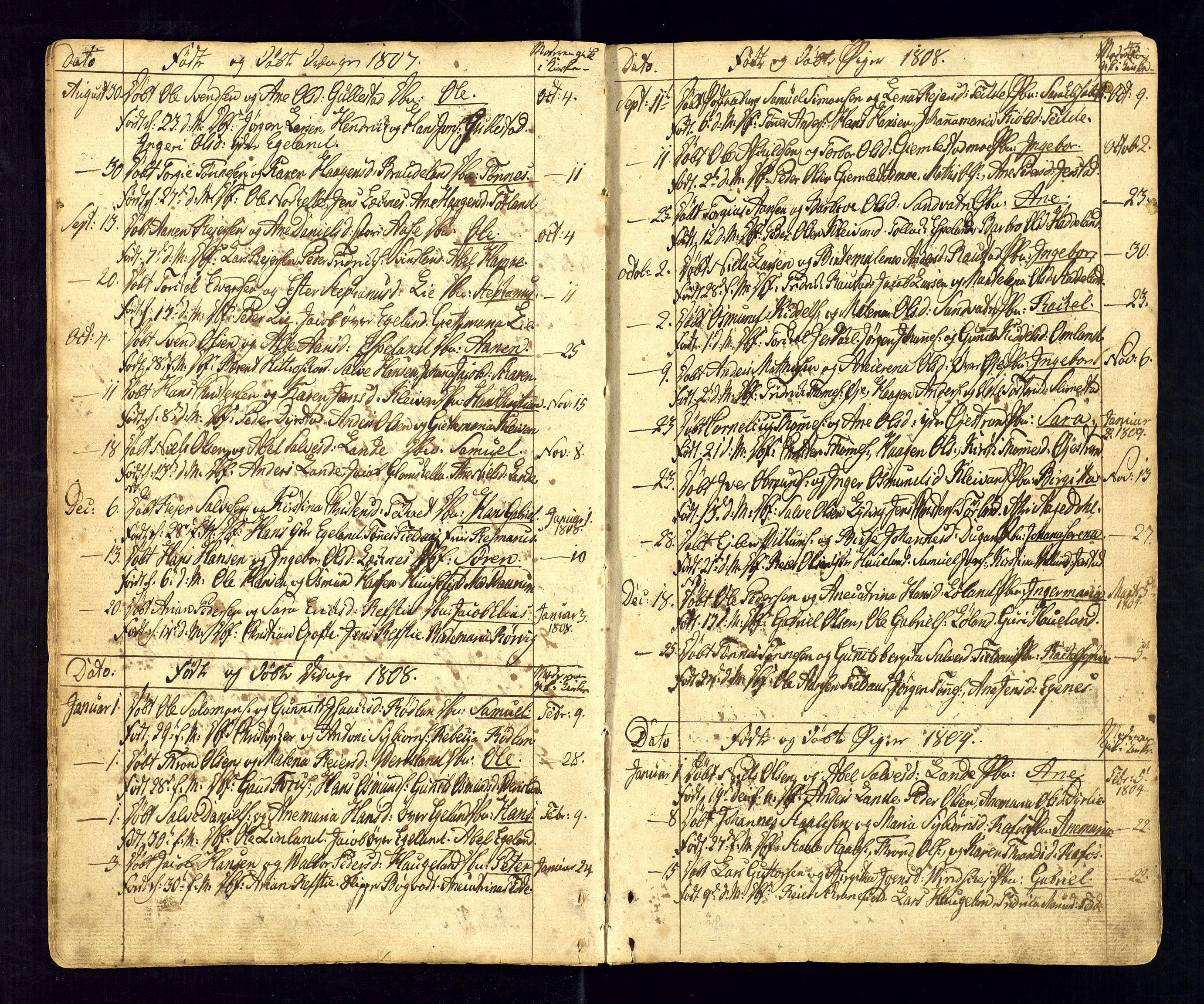 SAK, Kvinesdal sokneprestkontor, F/Fa/Fab/L0002: Ministerialbok nr. A 2, 1789-1815, s. 43