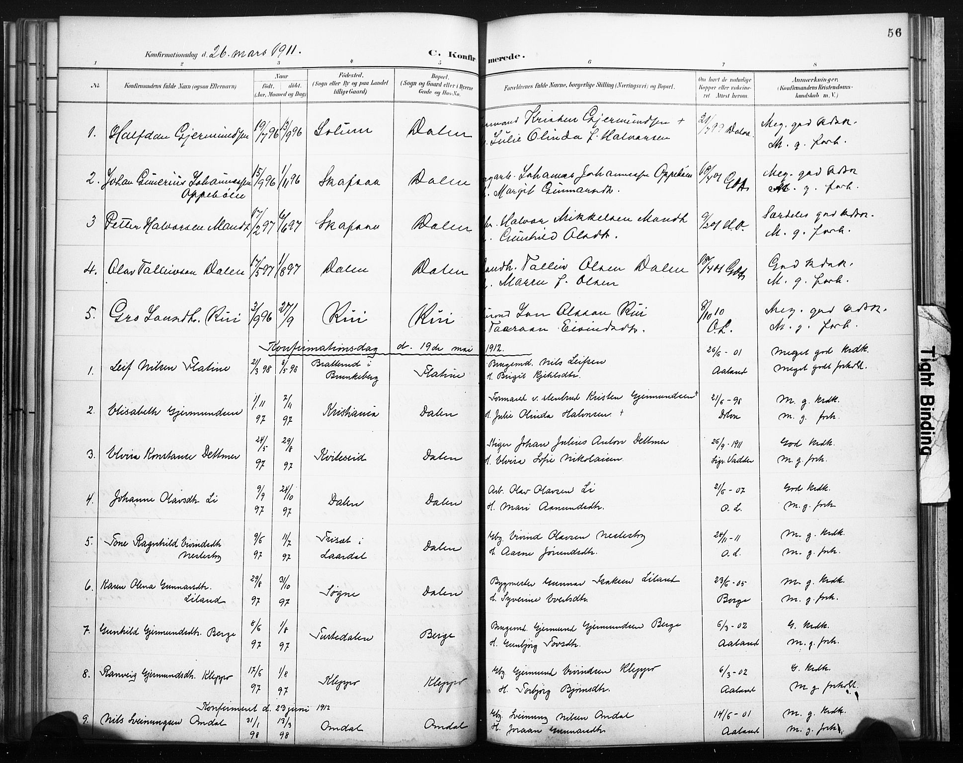 SAKO, Lårdal kirkebøker, F/Fb/L0002: Ministerialbok nr. II 2, 1887-1918, s. 56