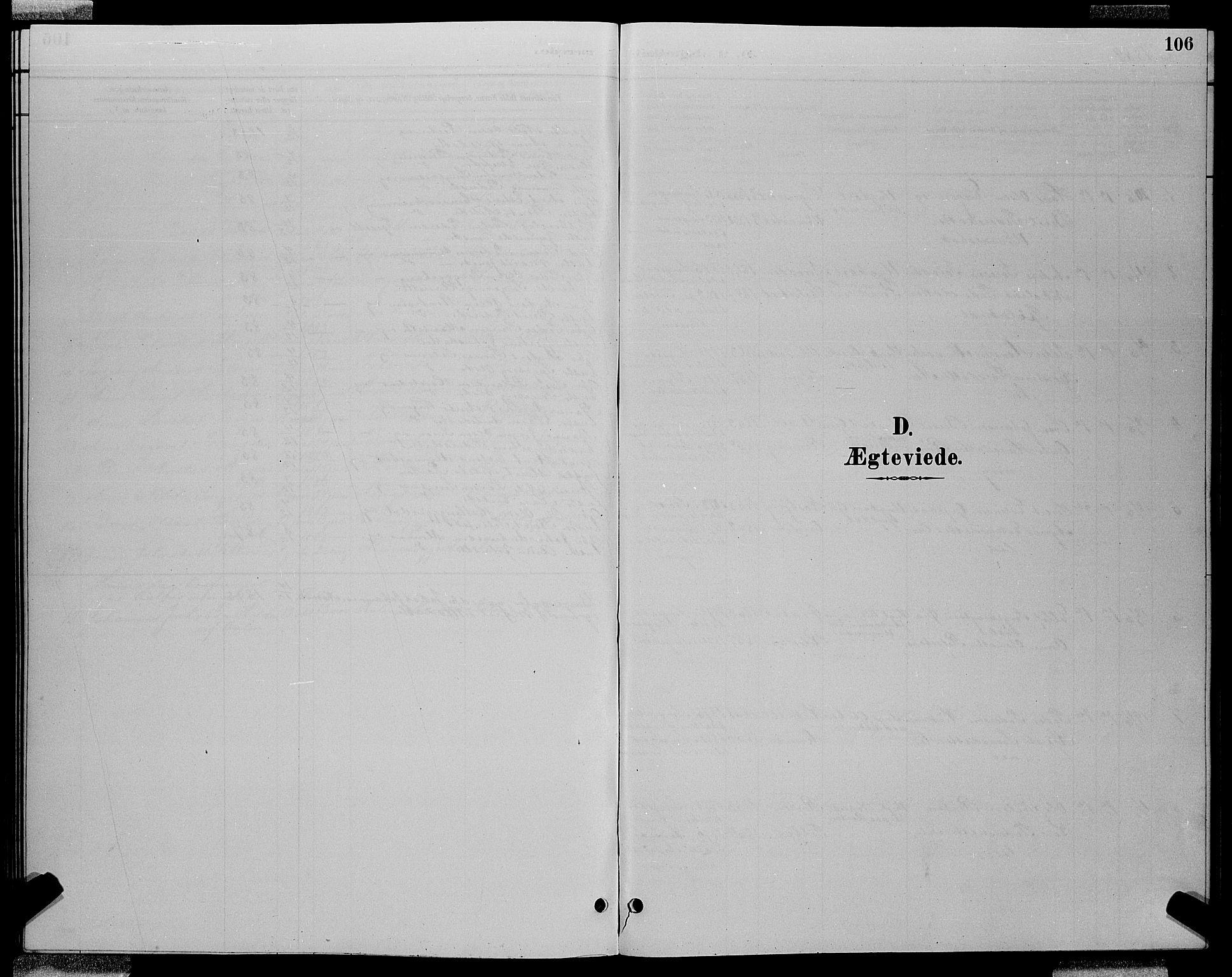 SAT, Ministerialprotokoller, klokkerbøker og fødselsregistre - Sør-Trøndelag, 688/L1028: Klokkerbok nr. 688C03, 1889-1899, s. 106