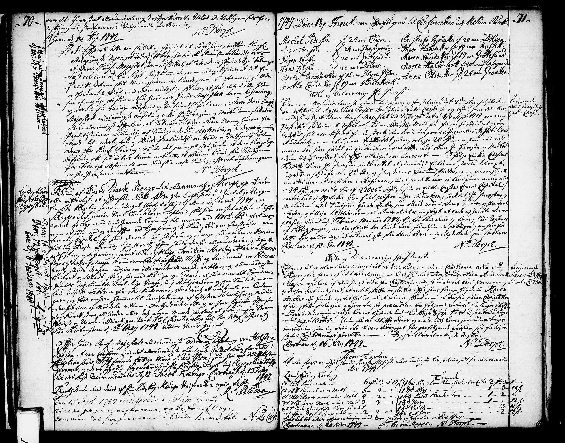 SAKO, Solum sokneprestkontor, A/Aa/L0002: Annen kirkebok nr. 2, 1743-1791, s. 70-71