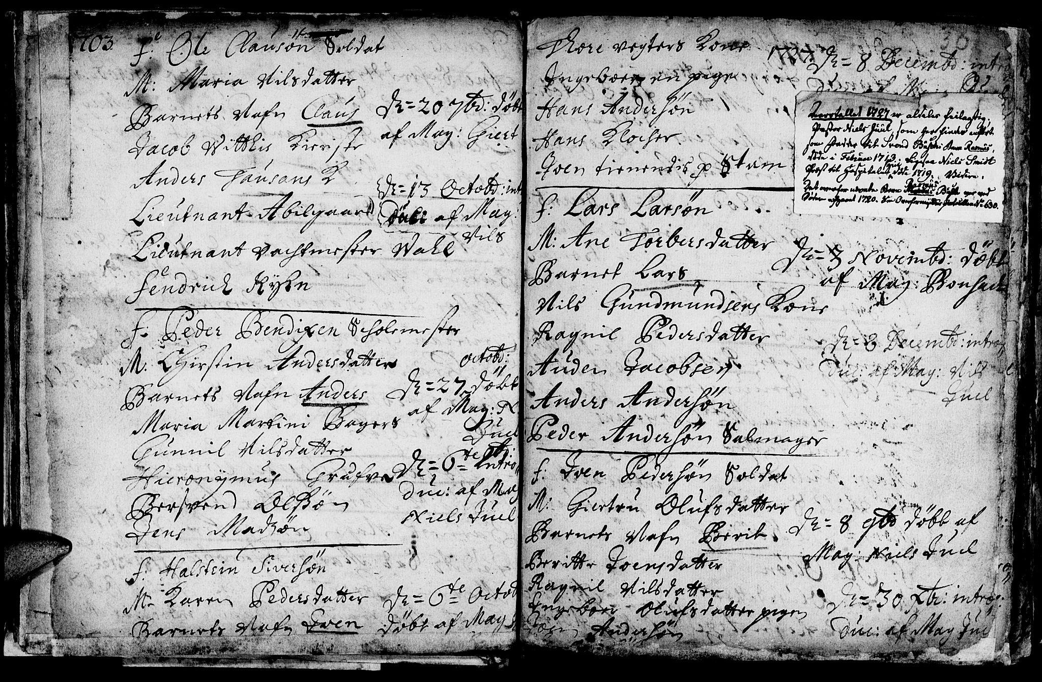 SAT, Ministerialprotokoller, klokkerbøker og fødselsregistre - Sør-Trøndelag, 601/L0034: Ministerialbok nr. 601A02, 1702-1714, s. 30