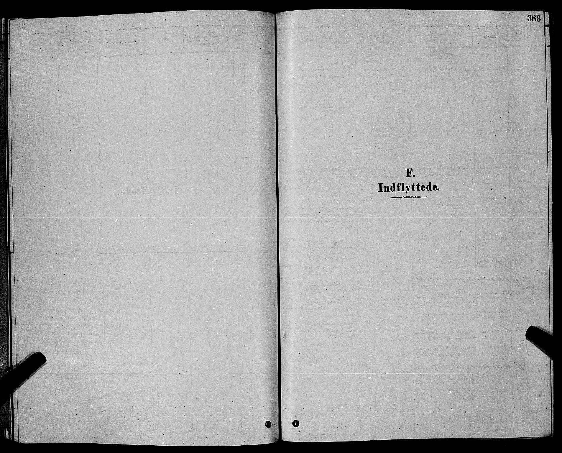 SAKO, Bamble kirkebøker, G/Ga/L0008: Klokkerbok nr. I 8, 1878-1888, s. 383