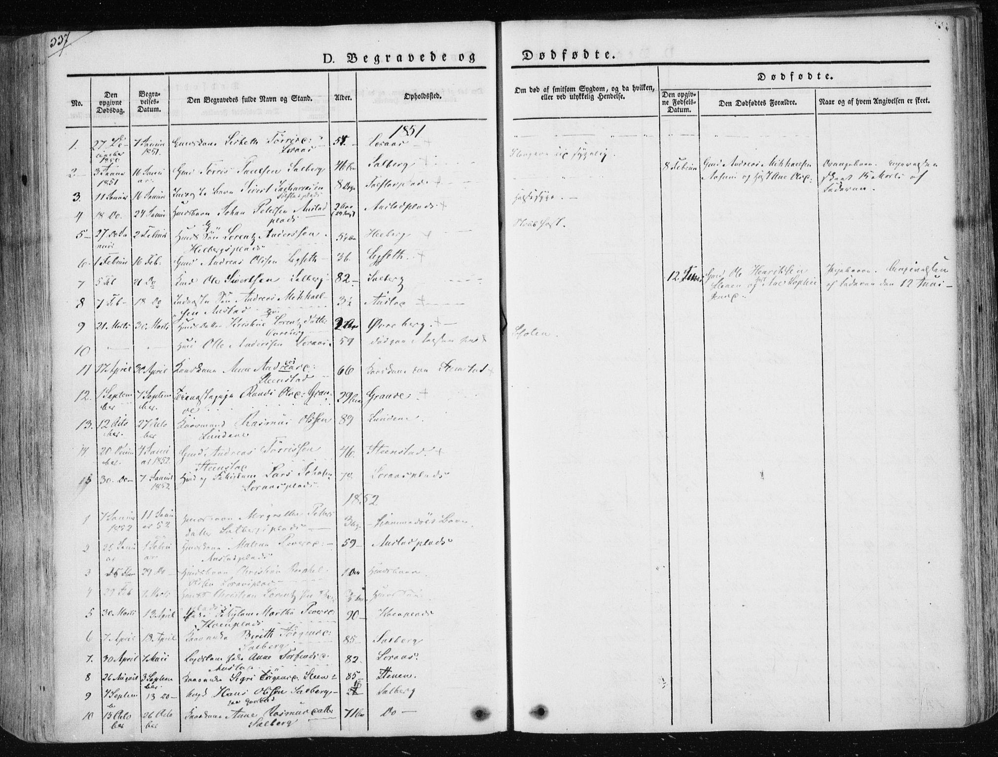 SAT, Ministerialprotokoller, klokkerbøker og fødselsregistre - Nord-Trøndelag, 730/L0280: Ministerialbok nr. 730A07 /2, 1840-1854, s. 327