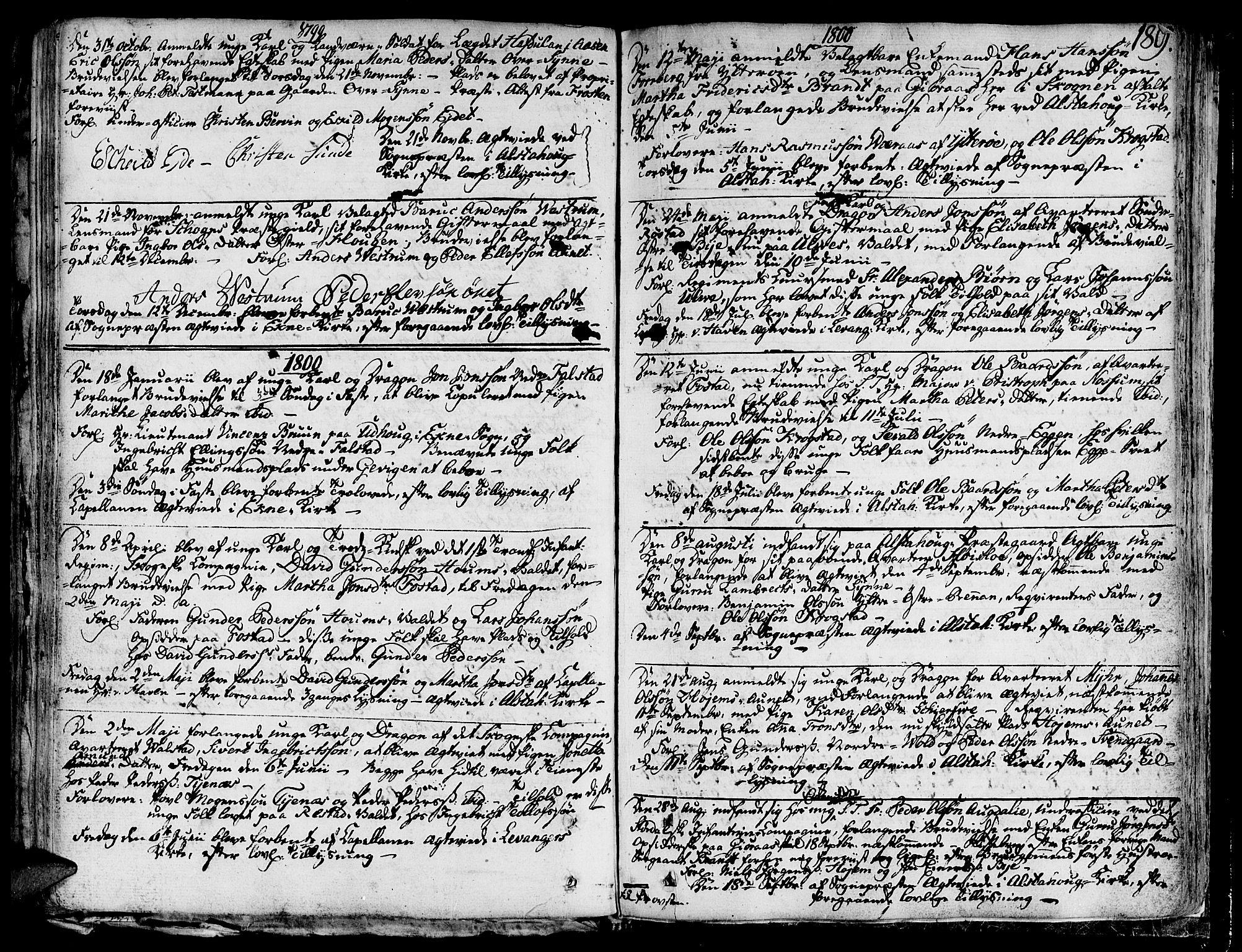 SAT, Ministerialprotokoller, klokkerbøker og fødselsregistre - Nord-Trøndelag, 717/L0142: Ministerialbok nr. 717A02 /1, 1783-1809, s. 189