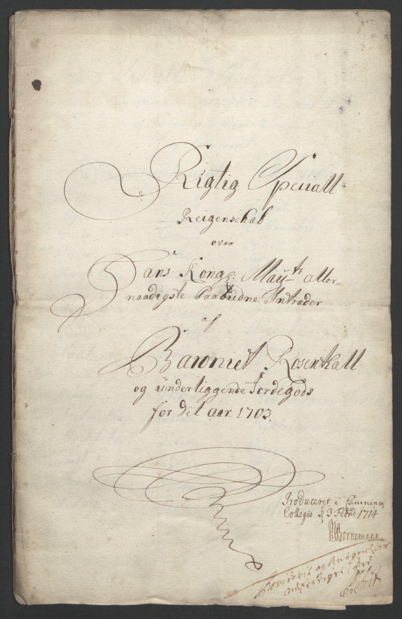 RA, Rentekammeret inntil 1814, Reviderte regnskaper, Fogderegnskap, R49/L3138: Fogderegnskap Rosendal Baroni, 1691-1714, s. 136