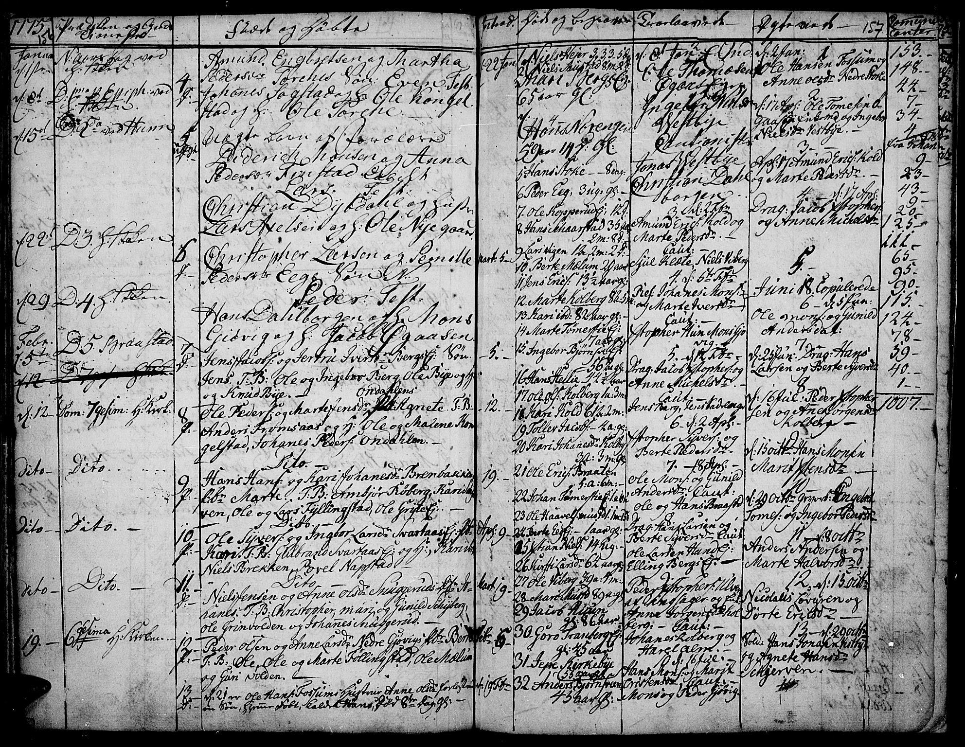 SAH, Vardal prestekontor, H/Ha/Haa/L0002: Ministerialbok nr. 2, 1748-1776, s. 156-157