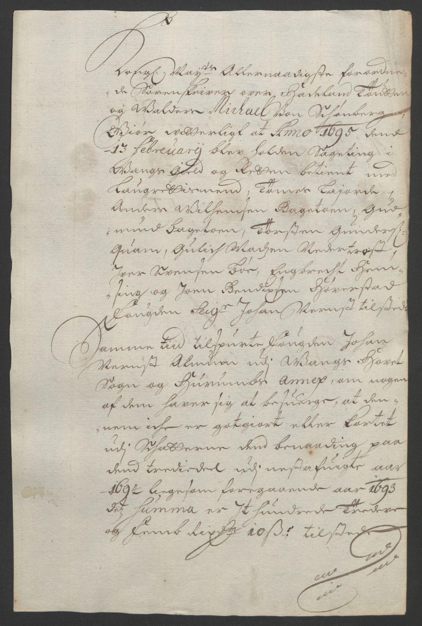 RA, Rentekammeret inntil 1814, Reviderte regnskaper, Fogderegnskap, R18/L1292: Fogderegnskap Hadeland, Toten og Valdres, 1693-1694, s. 398