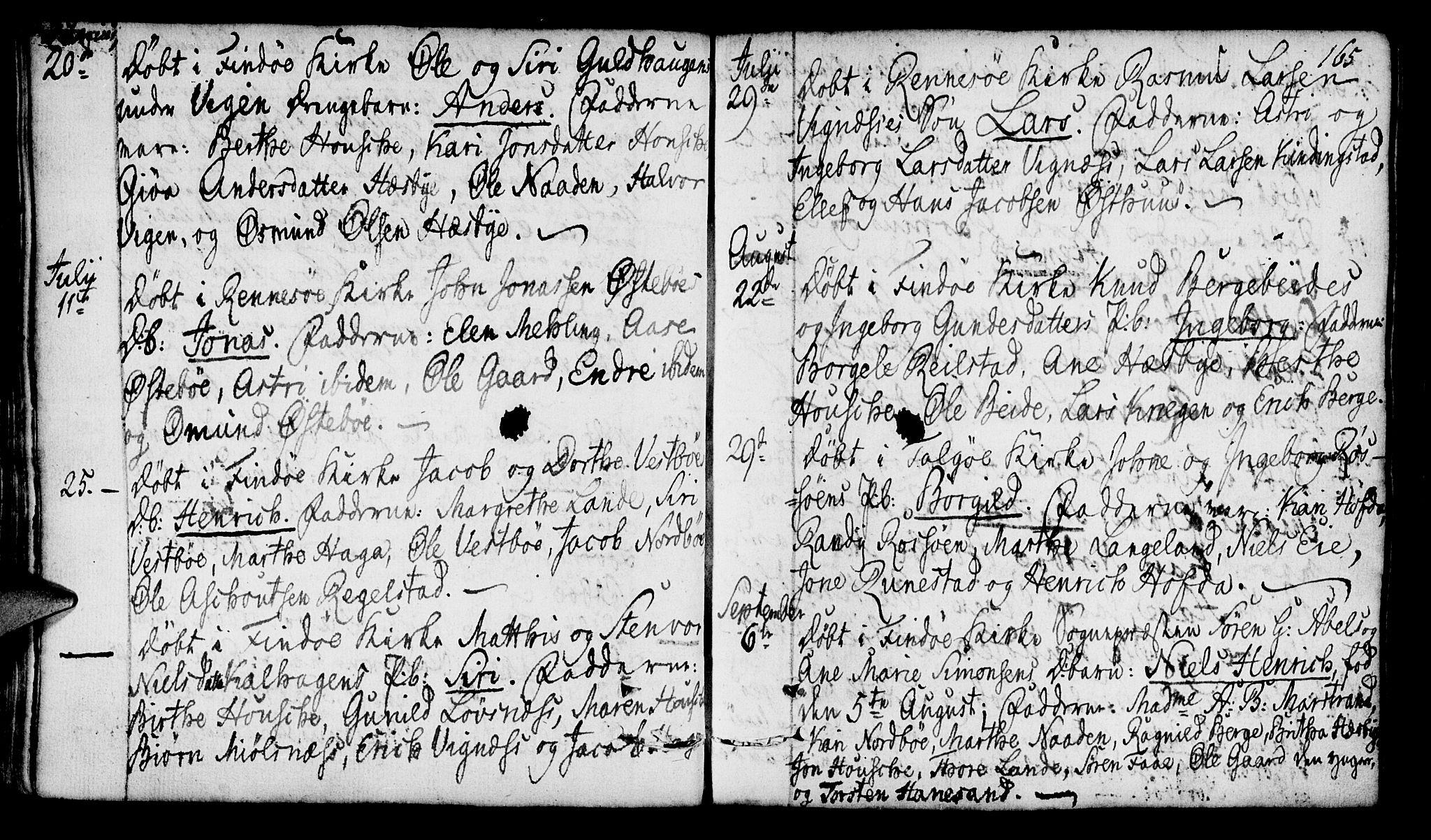 SAST, Finnøy sokneprestkontor, H/Ha/Haa/L0005: Ministerialbok nr. A 5, 1773-1816, s. 165