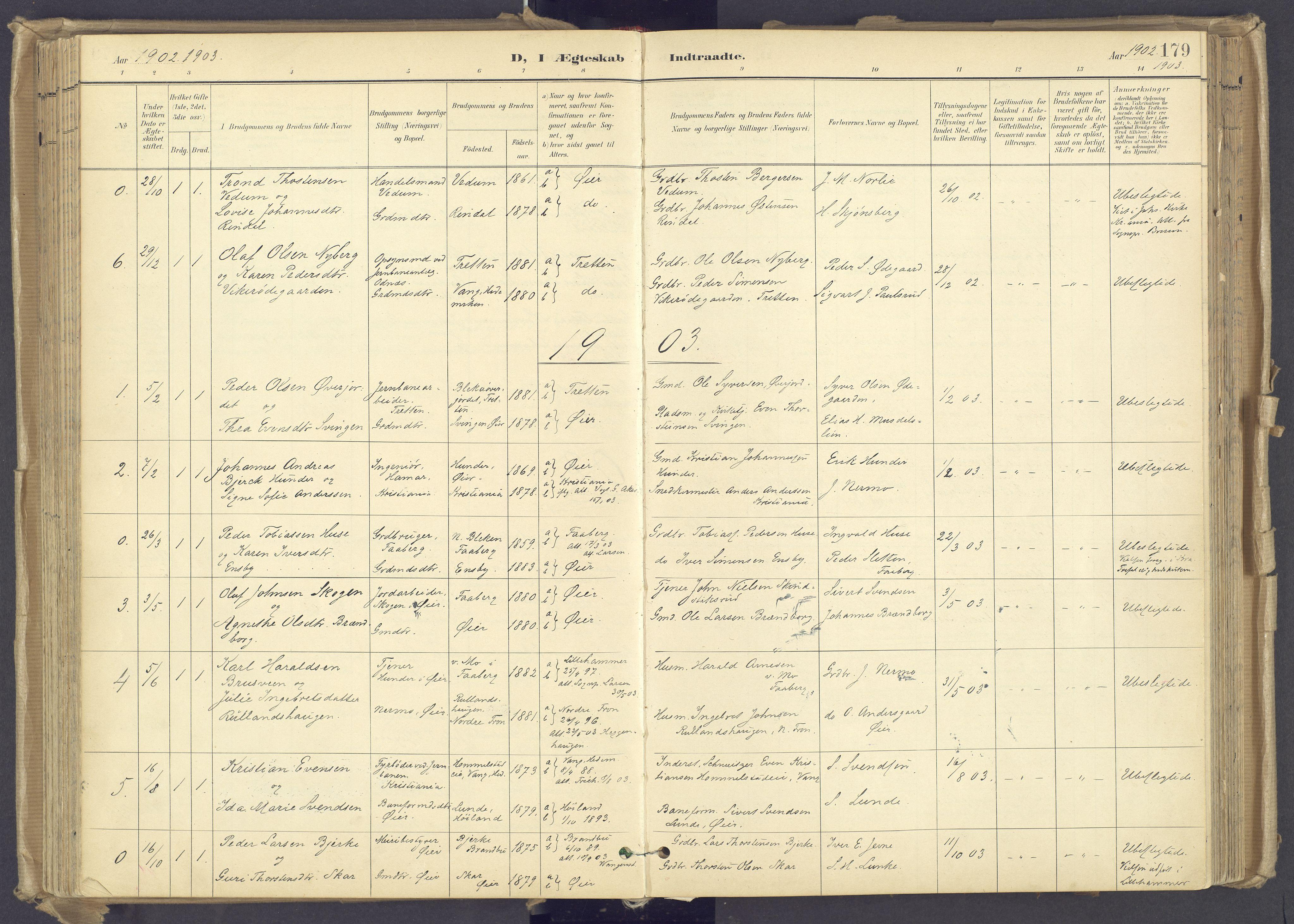 SAH, Øyer prestekontor, Ministerialbok nr. 12, 1897-1920, s. 179