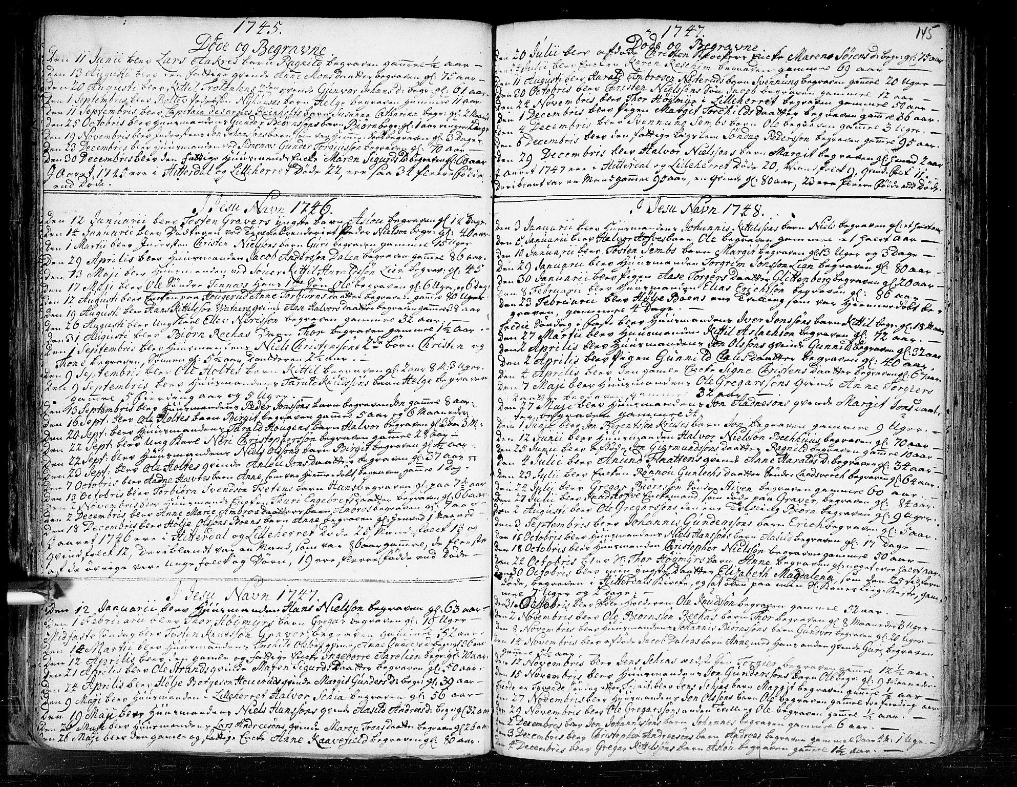 SAKO, Heddal kirkebøker, F/Fa/L0003: Ministerialbok nr. I 3, 1723-1783, s. 145