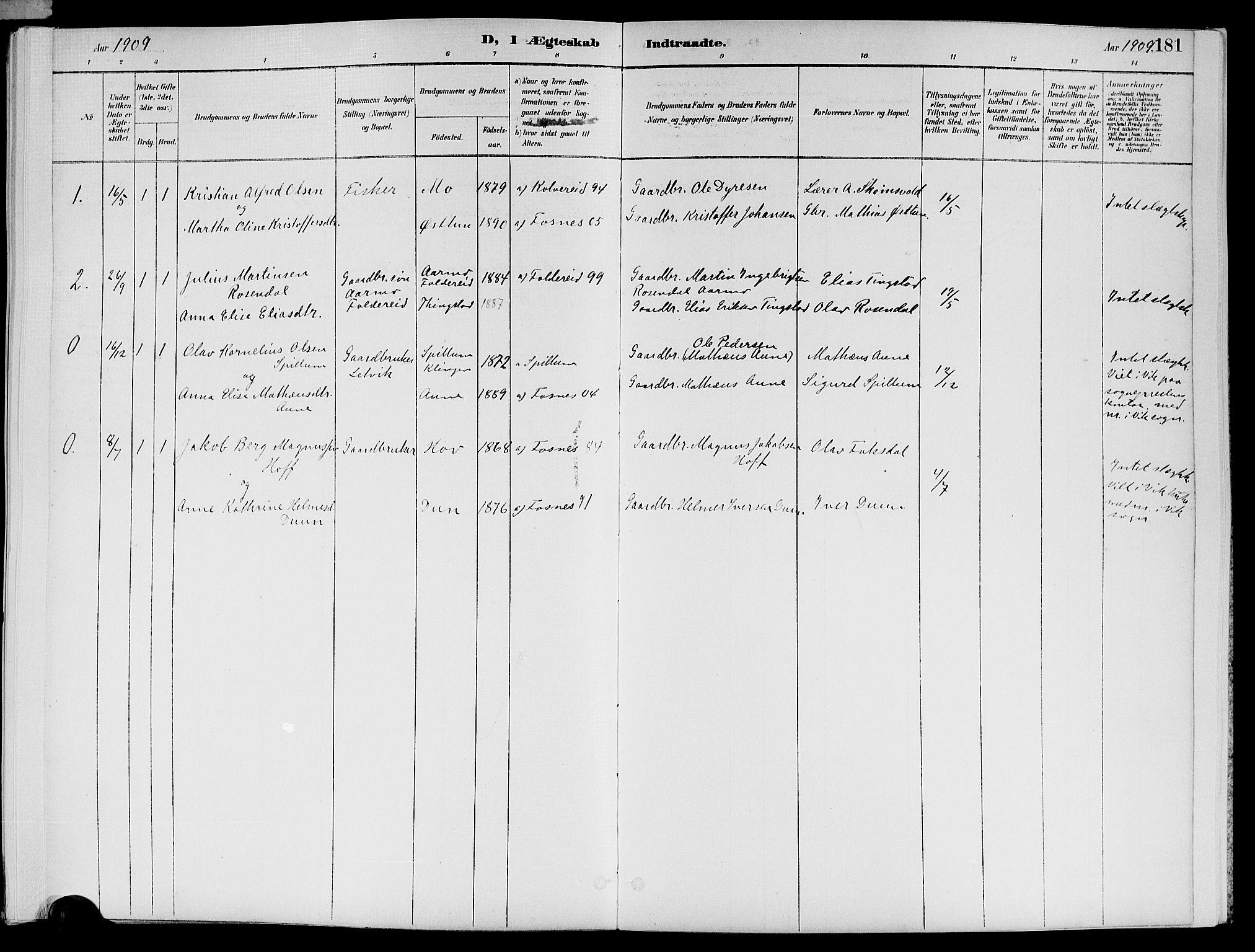 SAT, Ministerialprotokoller, klokkerbøker og fødselsregistre - Nord-Trøndelag, 773/L0617: Ministerialbok nr. 773A08, 1887-1910, s. 181