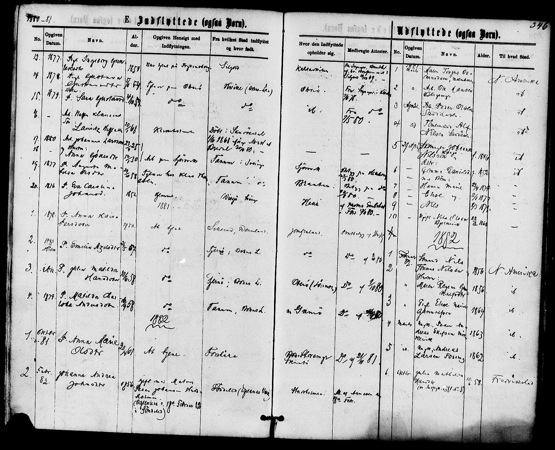 SAKO, Skåtøy kirkebøker, F/Fa/L0001: Ministerialbok nr. I 1, 1874-1883, s. 346