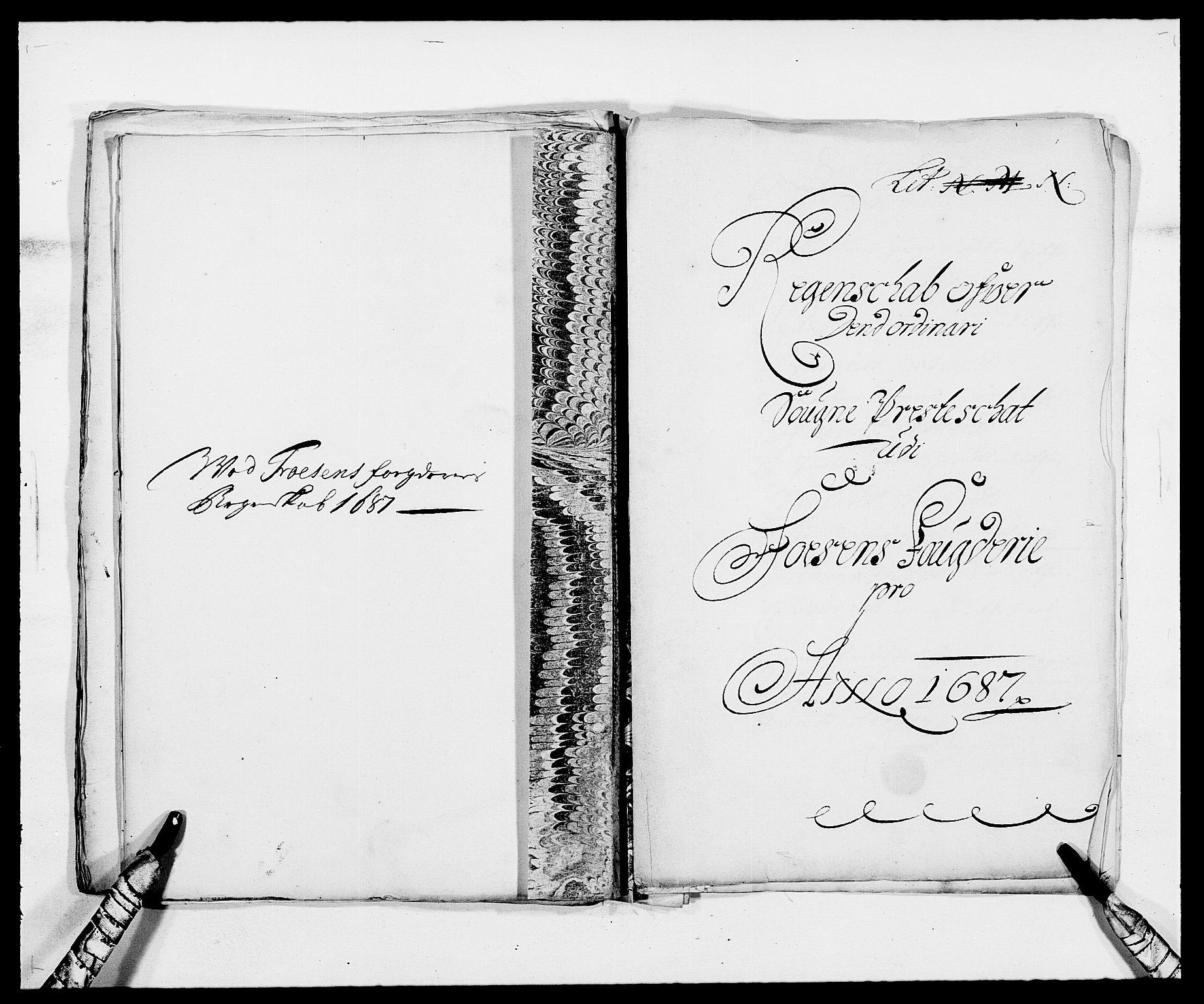 RA, Rentekammeret inntil 1814, Reviderte regnskaper, Fogderegnskap, R57/L3845: Fogderegnskap Fosen, 1687, s. 136
