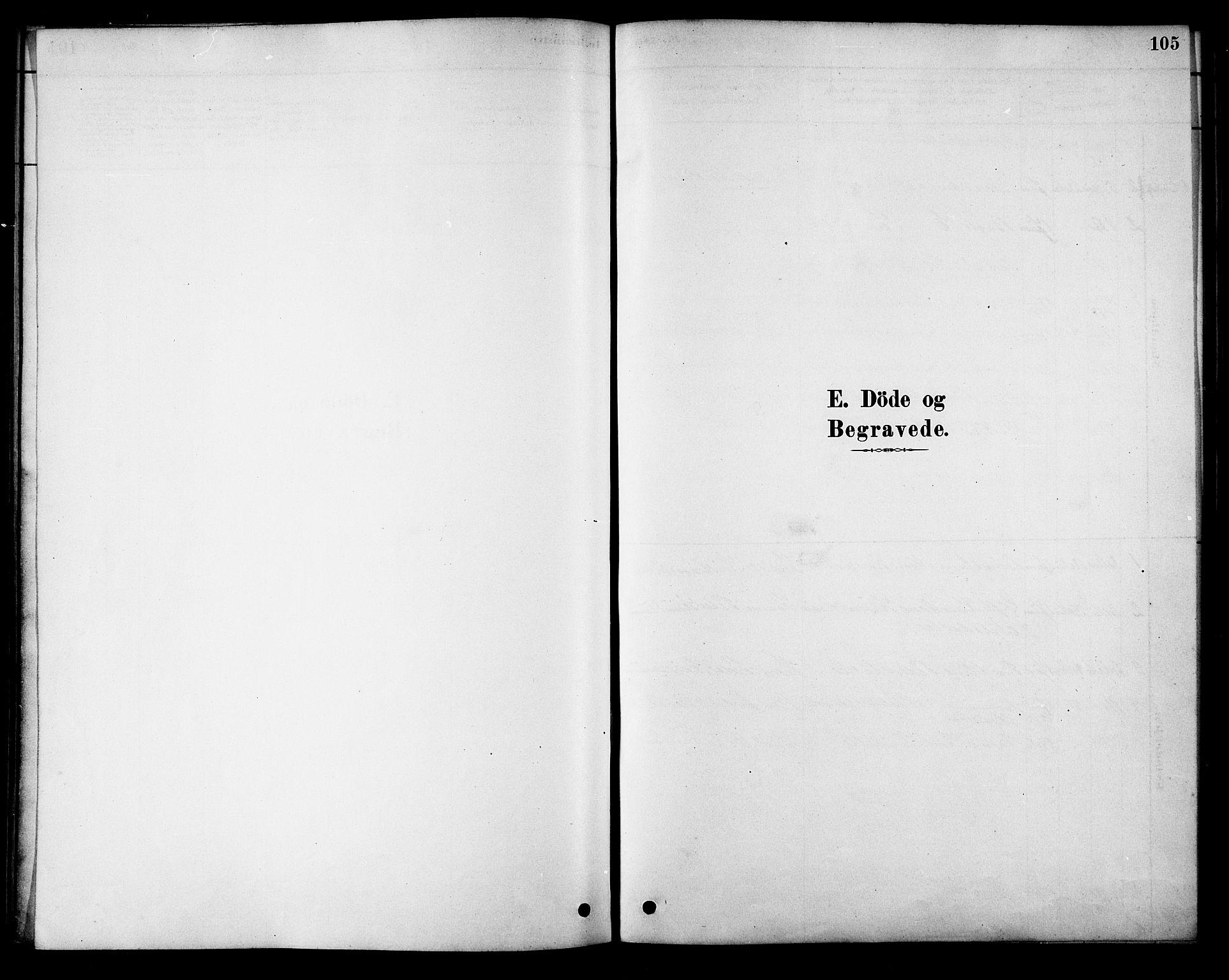 SAT, Ministerialprotokoller, klokkerbøker og fødselsregistre - Nordland, 886/L1219: Ministerialbok nr. 886A01, 1878-1892, s. 105