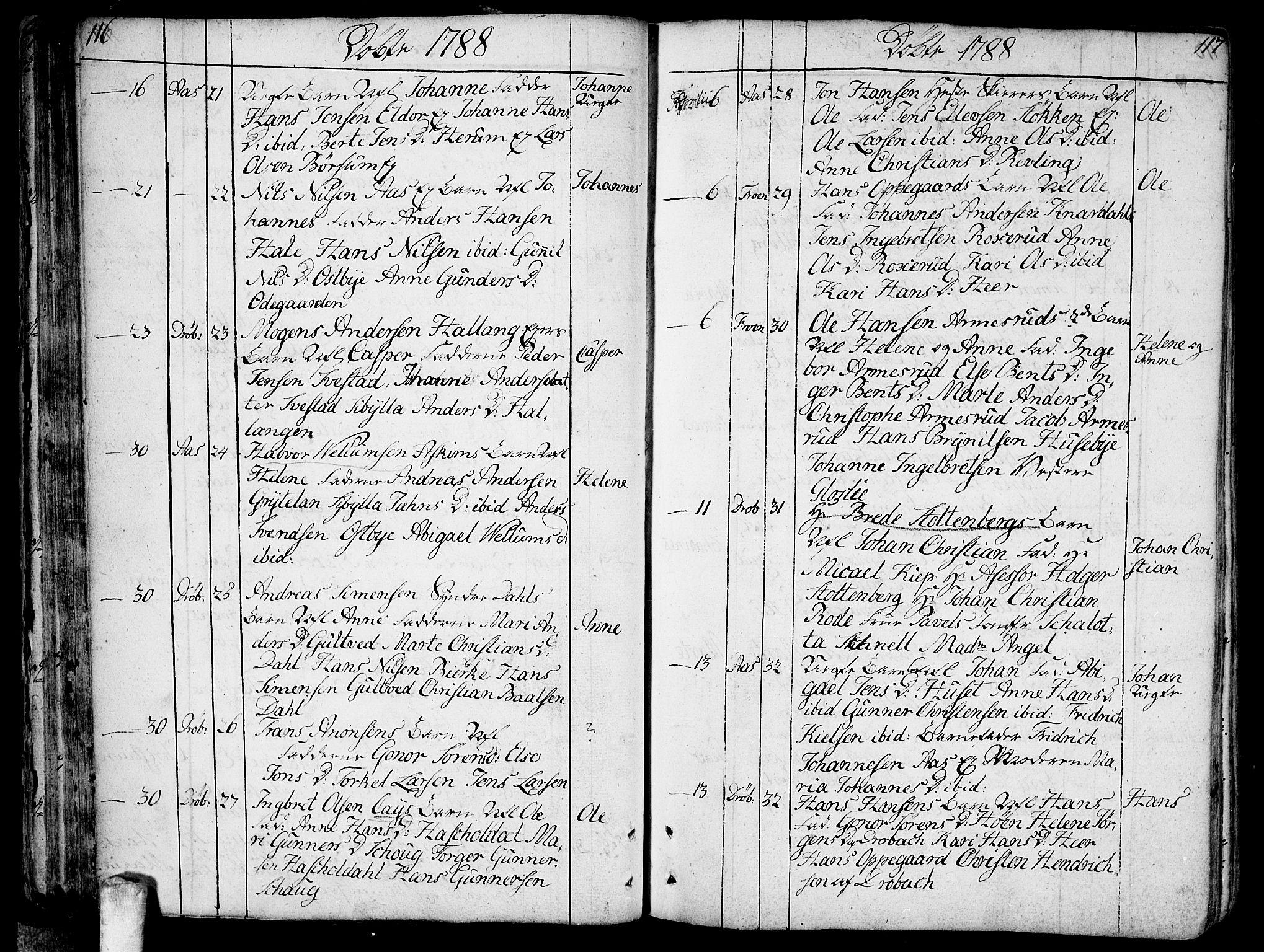 SAO, Ås prestekontor Kirkebøker, F/Fa/L0002: Ministerialbok nr. I 2, 1778-1813, s. 116-117