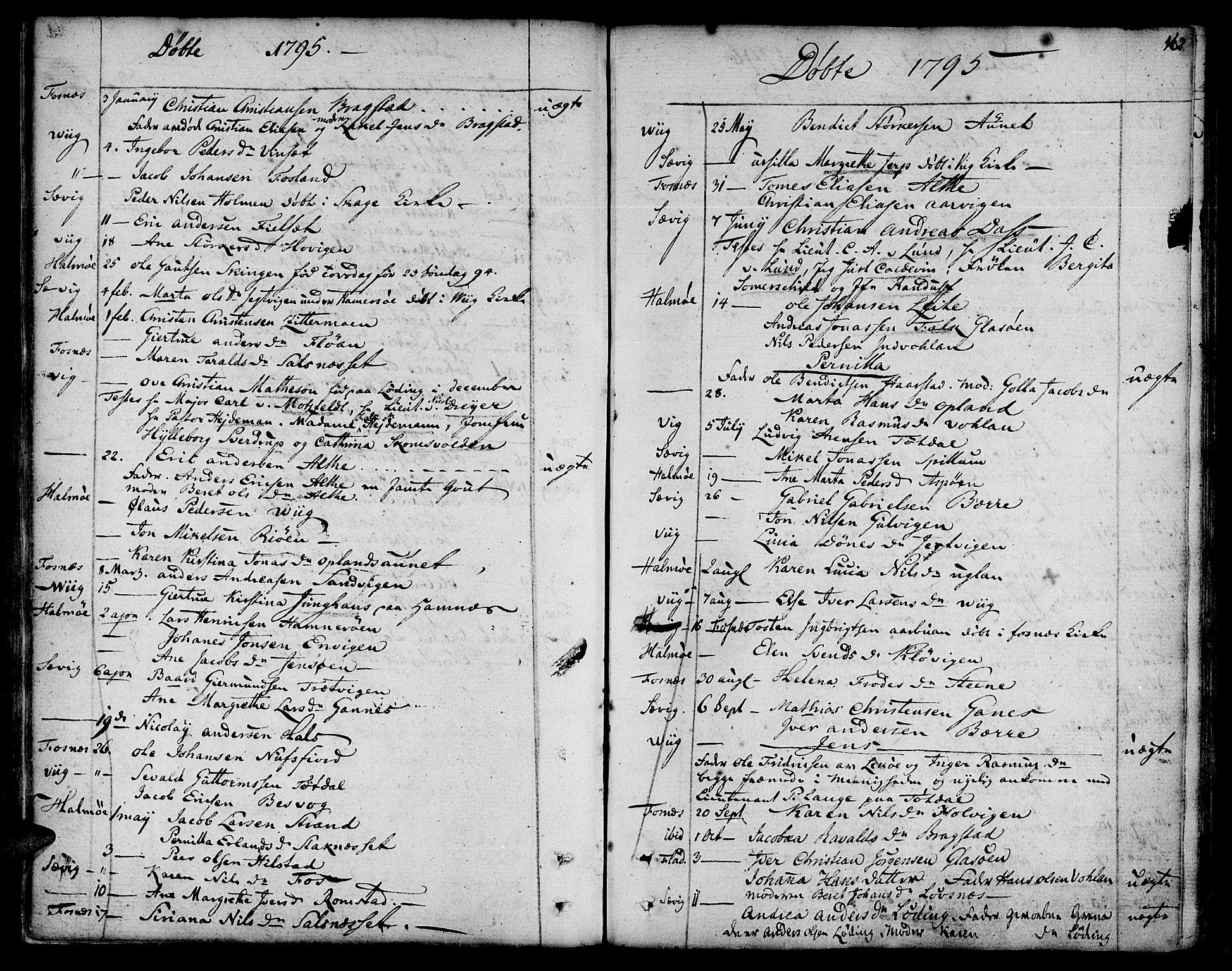 SAT, Ministerialprotokoller, klokkerbøker og fødselsregistre - Nord-Trøndelag, 773/L0608: Ministerialbok nr. 773A02, 1784-1816, s. 162