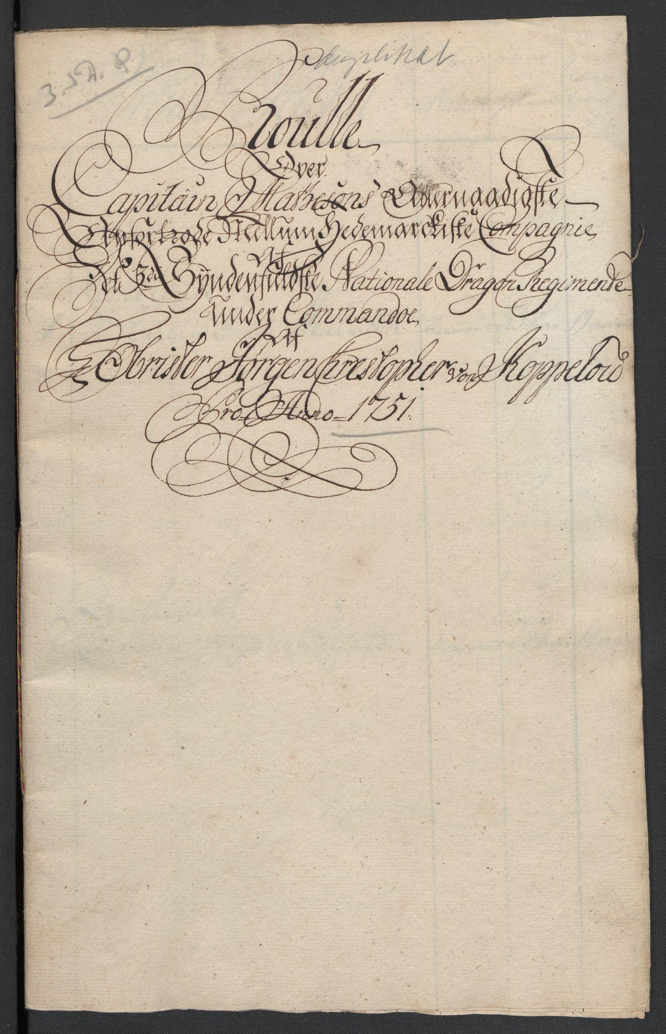 RA, Kommanderende general (KG I) med Det norske krigsdirektorium, E/Ea/L0479: 3. Sønnafjelske dragonregiment, 1756-1760, s. 552