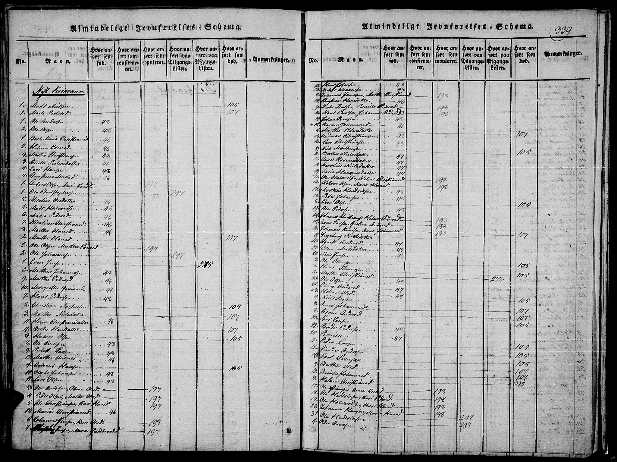 SAH, Toten prestekontor, Ministerialbok nr. 10, 1820-1828, s. 339