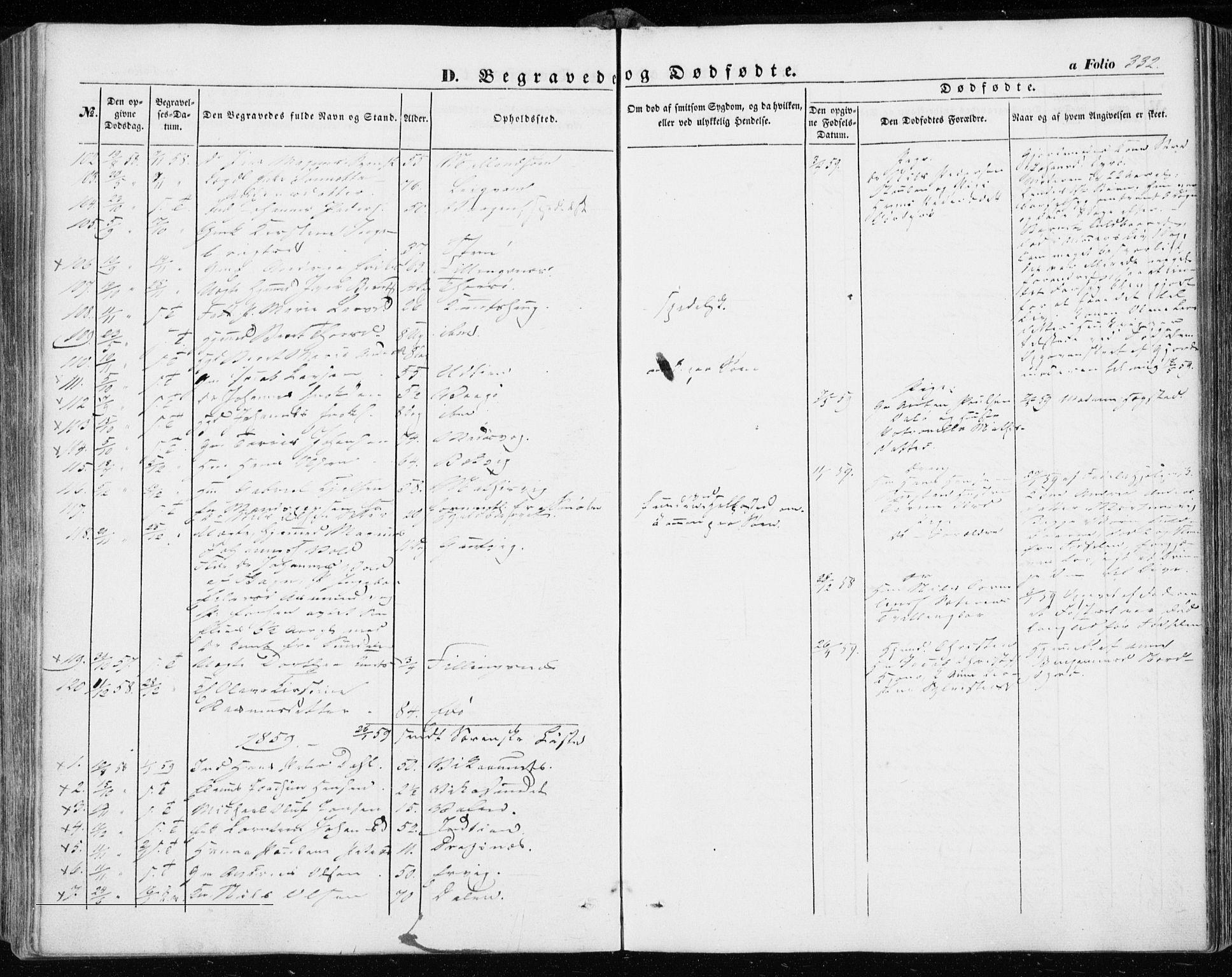 SAT, Ministerialprotokoller, klokkerbøker og fødselsregistre - Sør-Trøndelag, 634/L0530: Ministerialbok nr. 634A06, 1852-1860, s. 332